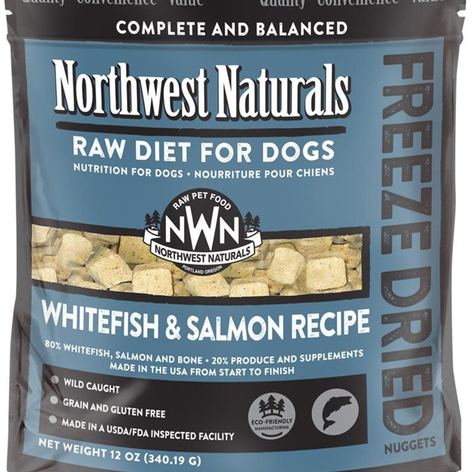 Northwest Naturals Northwest Naturals Dog Freeze-dried Whitefish & Salmon Nuggets 12 OZ