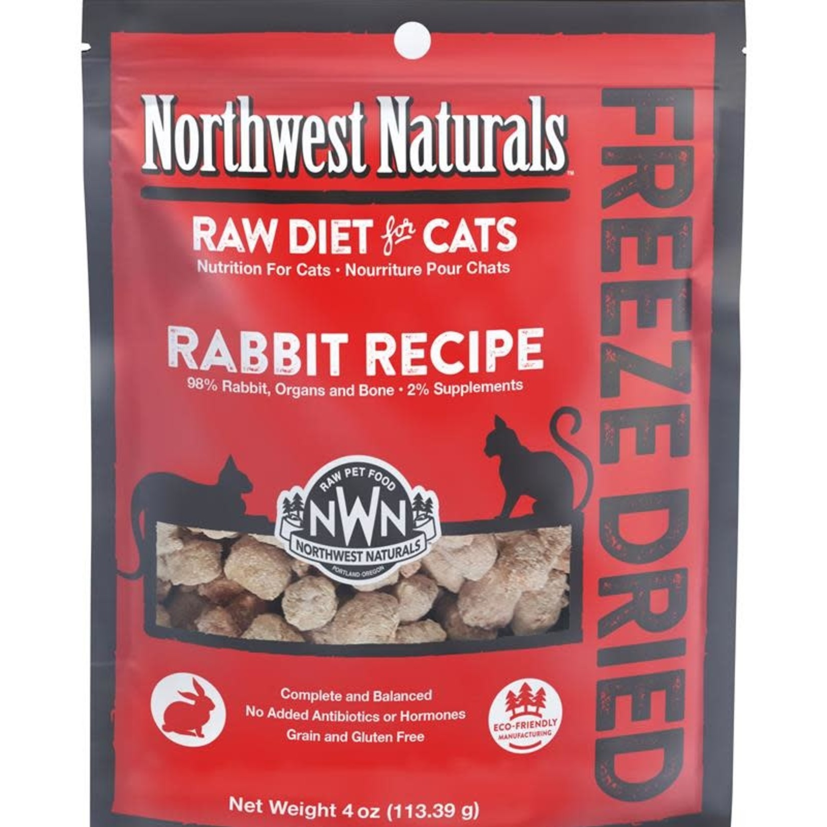Northwest Naturals Northwest Naturals Freeze-dried Cat Rabbit Nibbles 4 OZ
