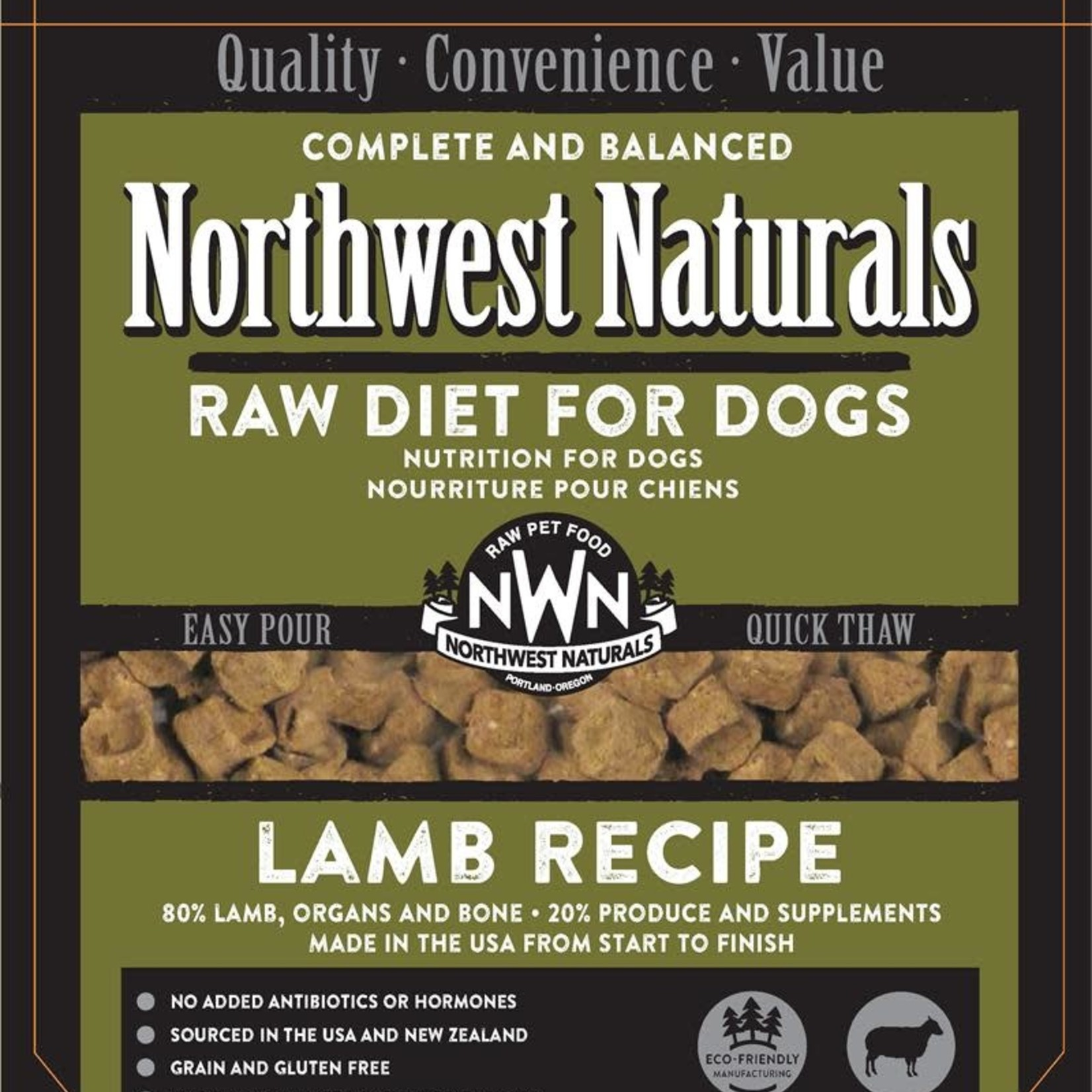 Northwest Naturals Northwest Naturals Dog Frozen Lamb Nuggets 6#