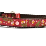 Six Point Pet Six Point Pet Chamomile Flower Burgandy Collar X-Small