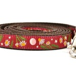 Six Point Pet Six Point Pet Chamomile Flower Lead Burgandy Small