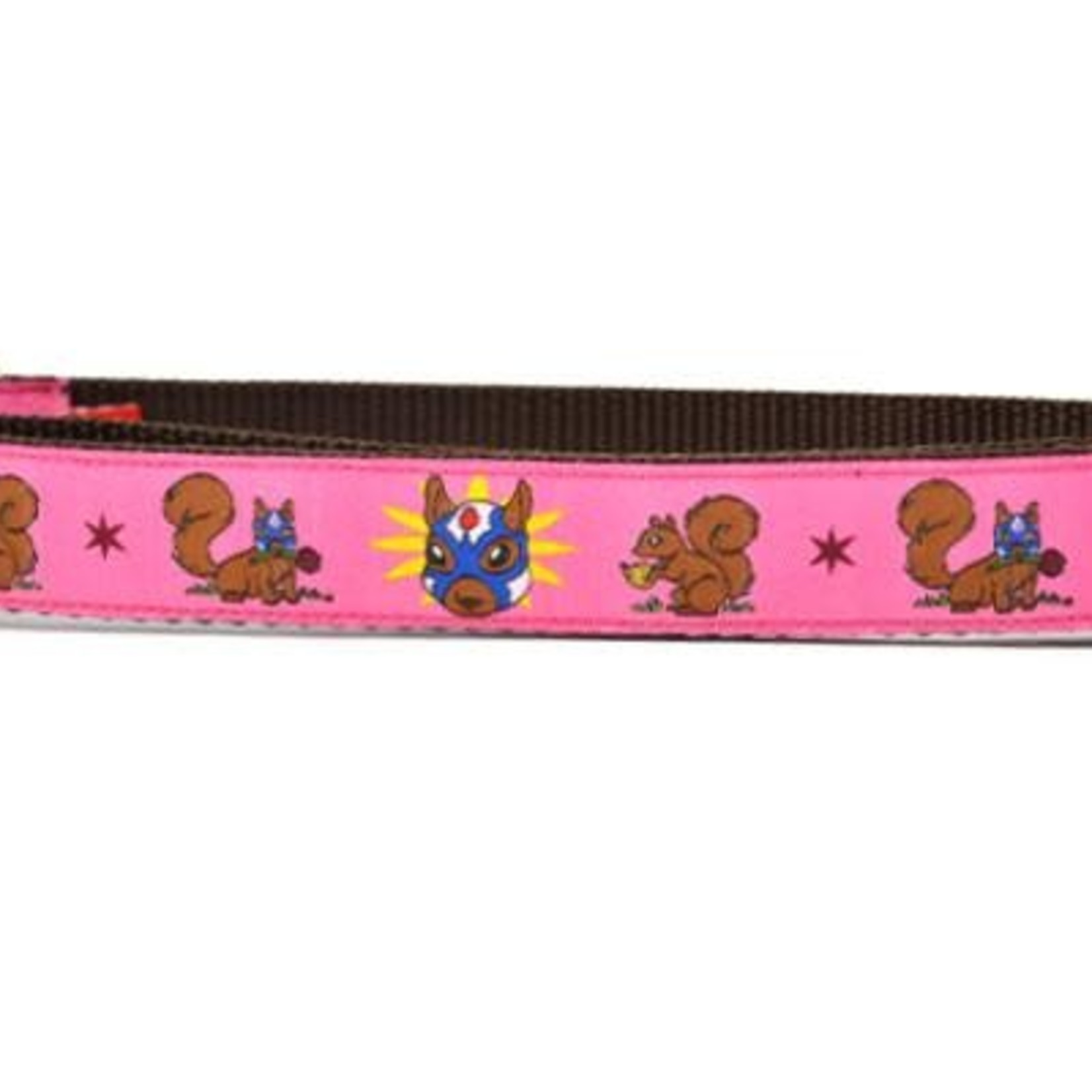 Six Point Pet Six Point Pet Lucha Squirrels Pink Collar X-Small