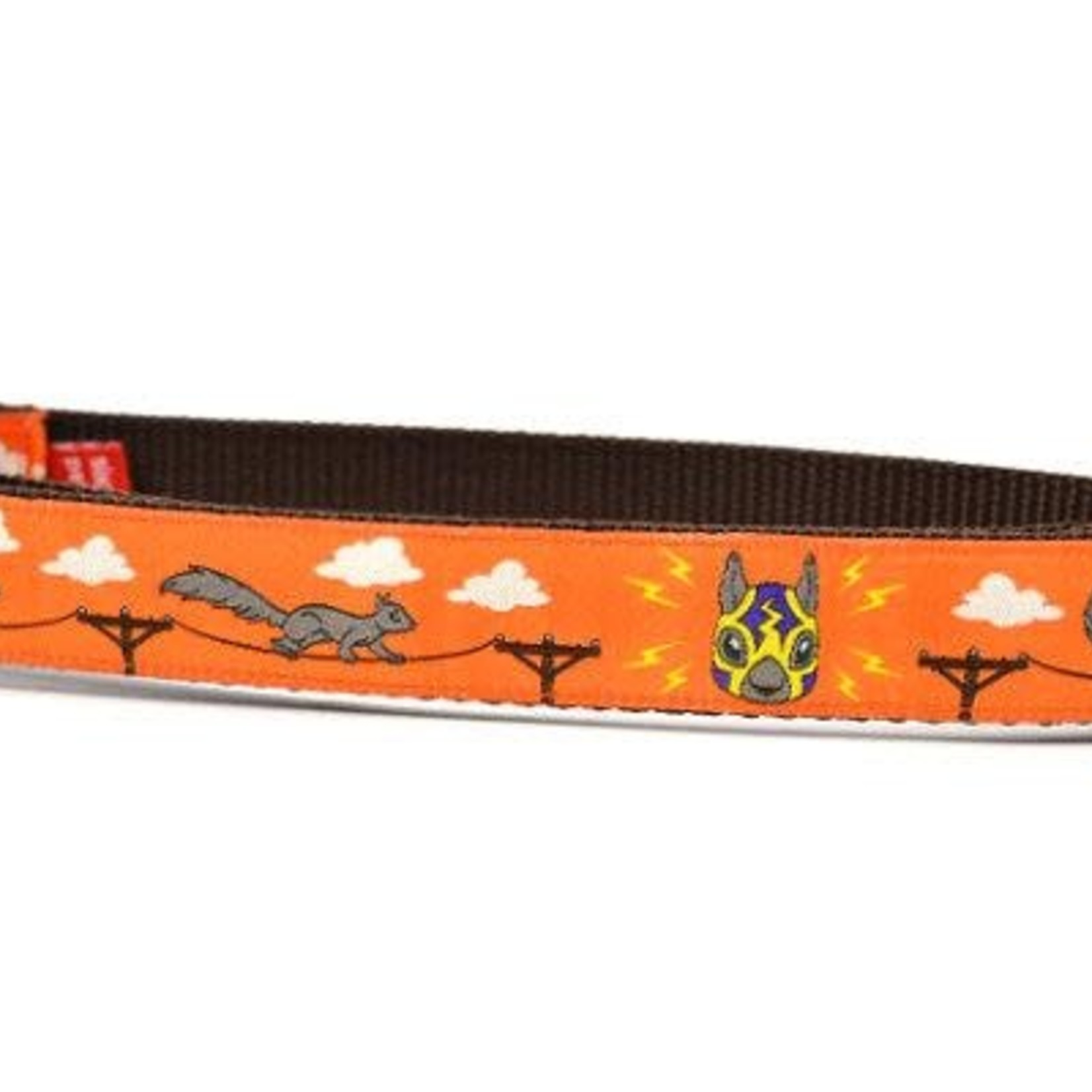 Six Point Pet Six Point Pet Lucha Squirrels Orange Collar Medium