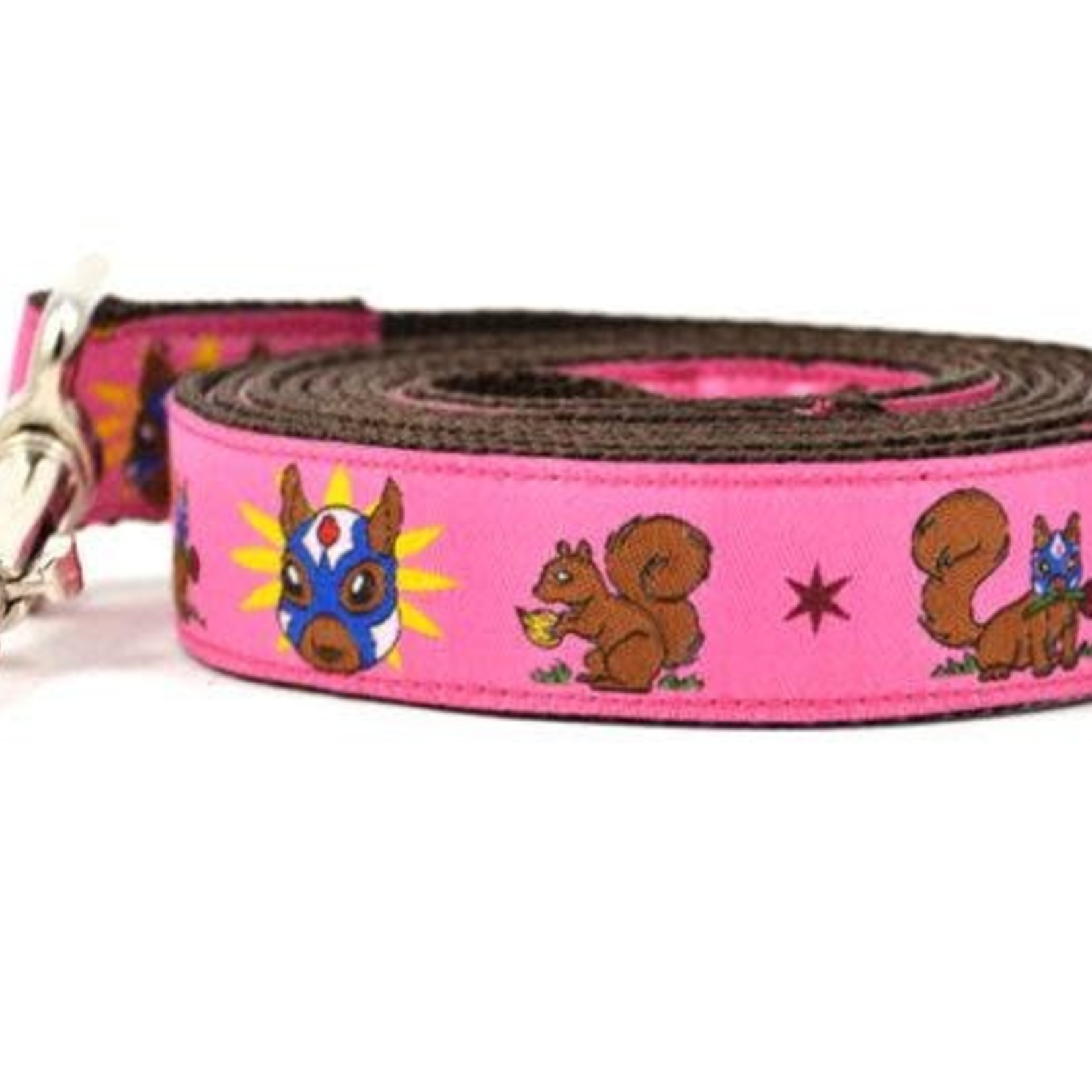 Six Point Pet Six Point Pet Lucha Squirrels Lead Pink Large