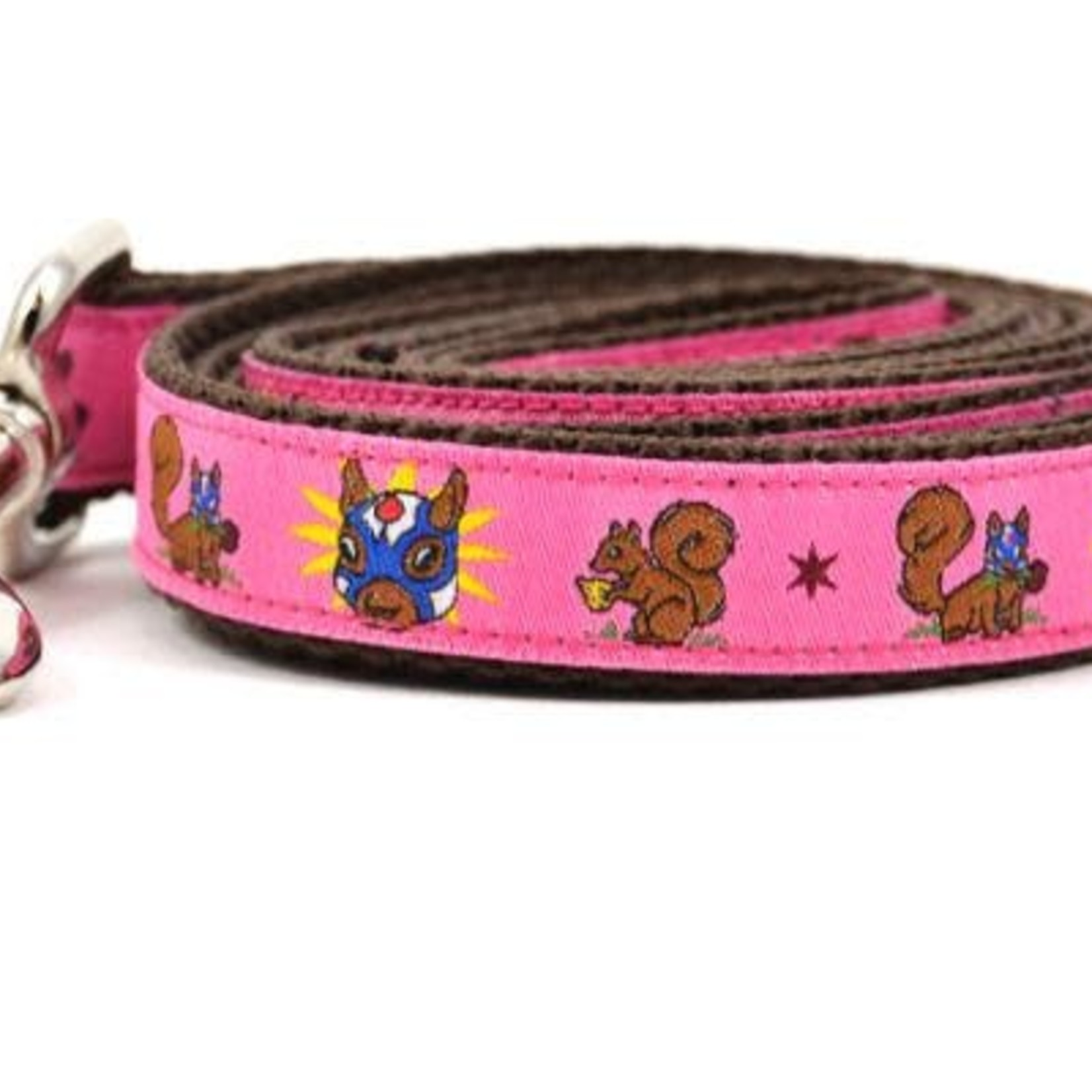 Six Point Pet Six Point Pet Lucha Squirrels Lead Pink Small