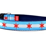 Six Point Pet Six Point Pet Chicago Flag Collar Large