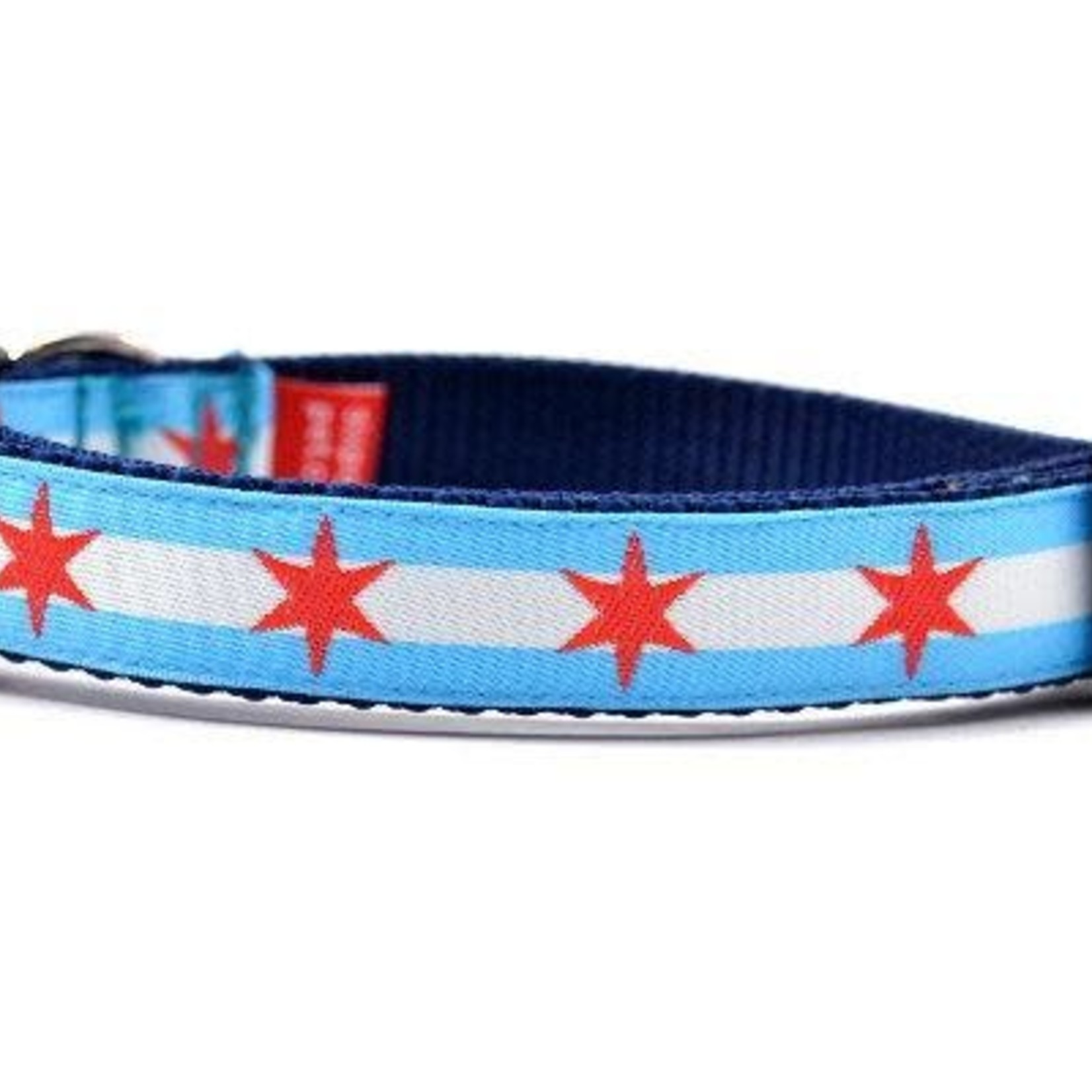 Six Point Pet Six Point Pet Chicago Flag Collar Small