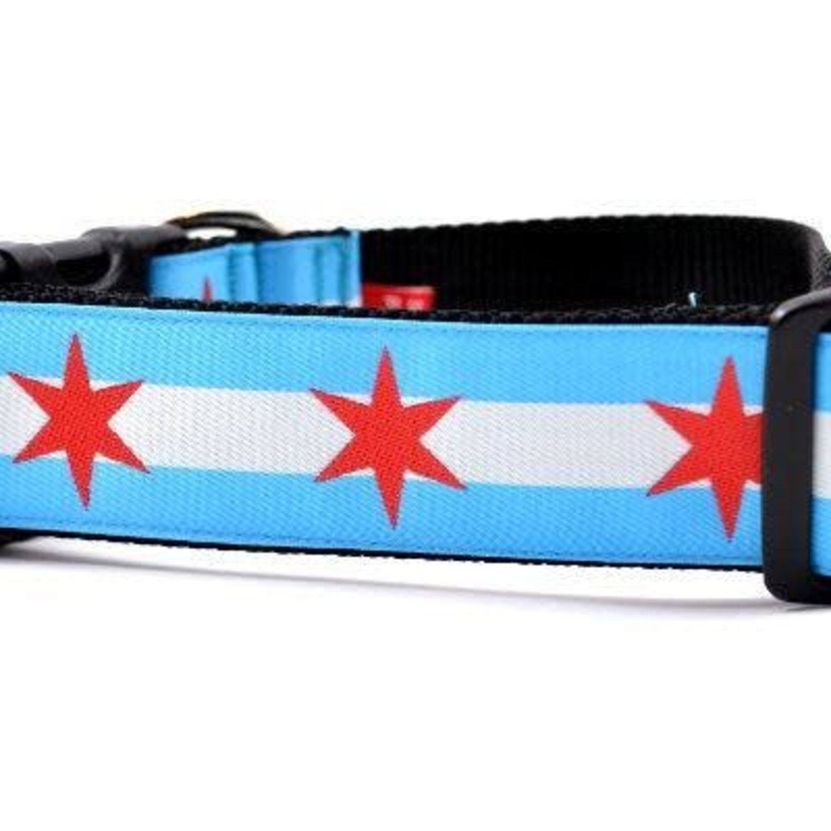 Six Point Pet Six Point Pet Chicago Flag Wide Collar Medium