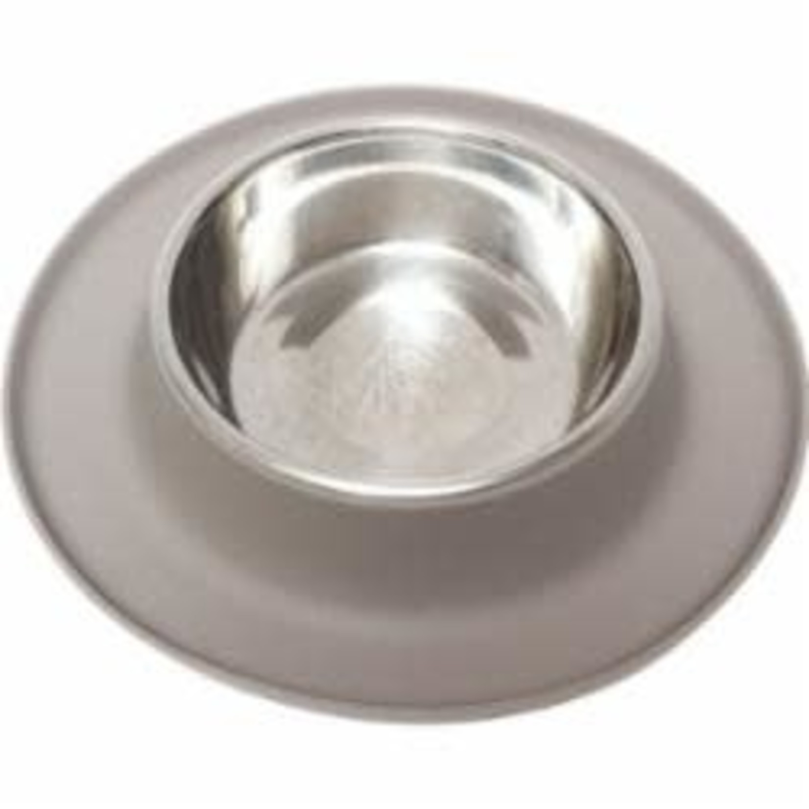 Messy Mutts Messy Mutts Dog Silicone Feeder Grey 1.5 CUP