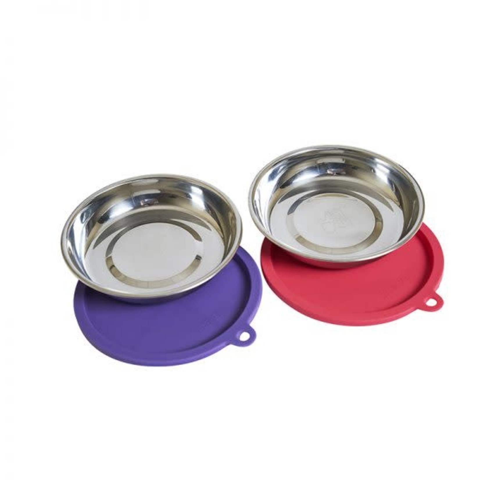 Messy Mutts Messy Mutts Cat Bowl & Lid 2 Pack, 1.75 CUP