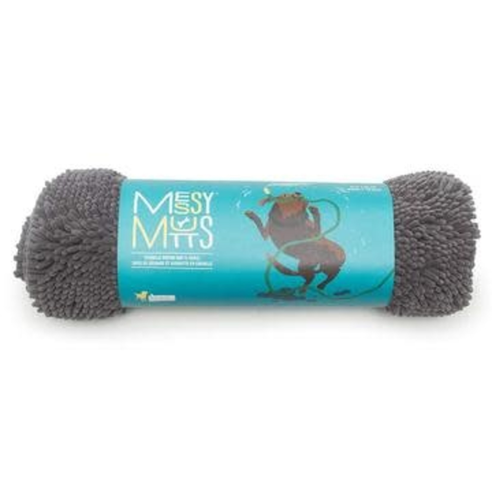 Messy Mutts Messy Mutts Drying Mat & Towel Cool Grey Small