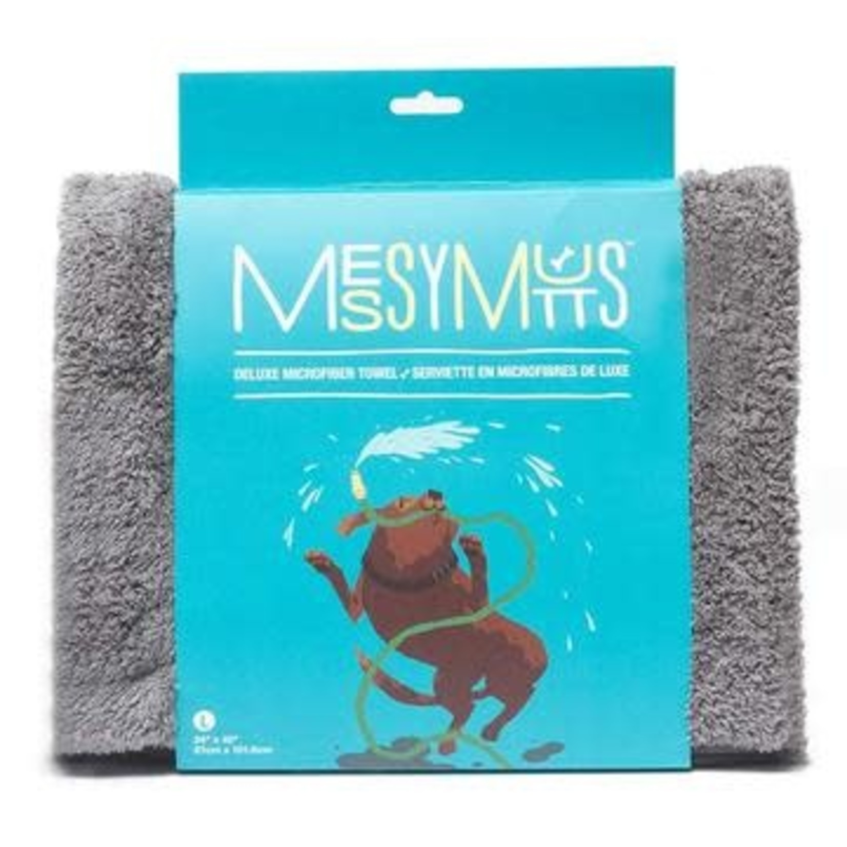 Messy Mutts Messy Mutts Microfiber Towel Grey Medium