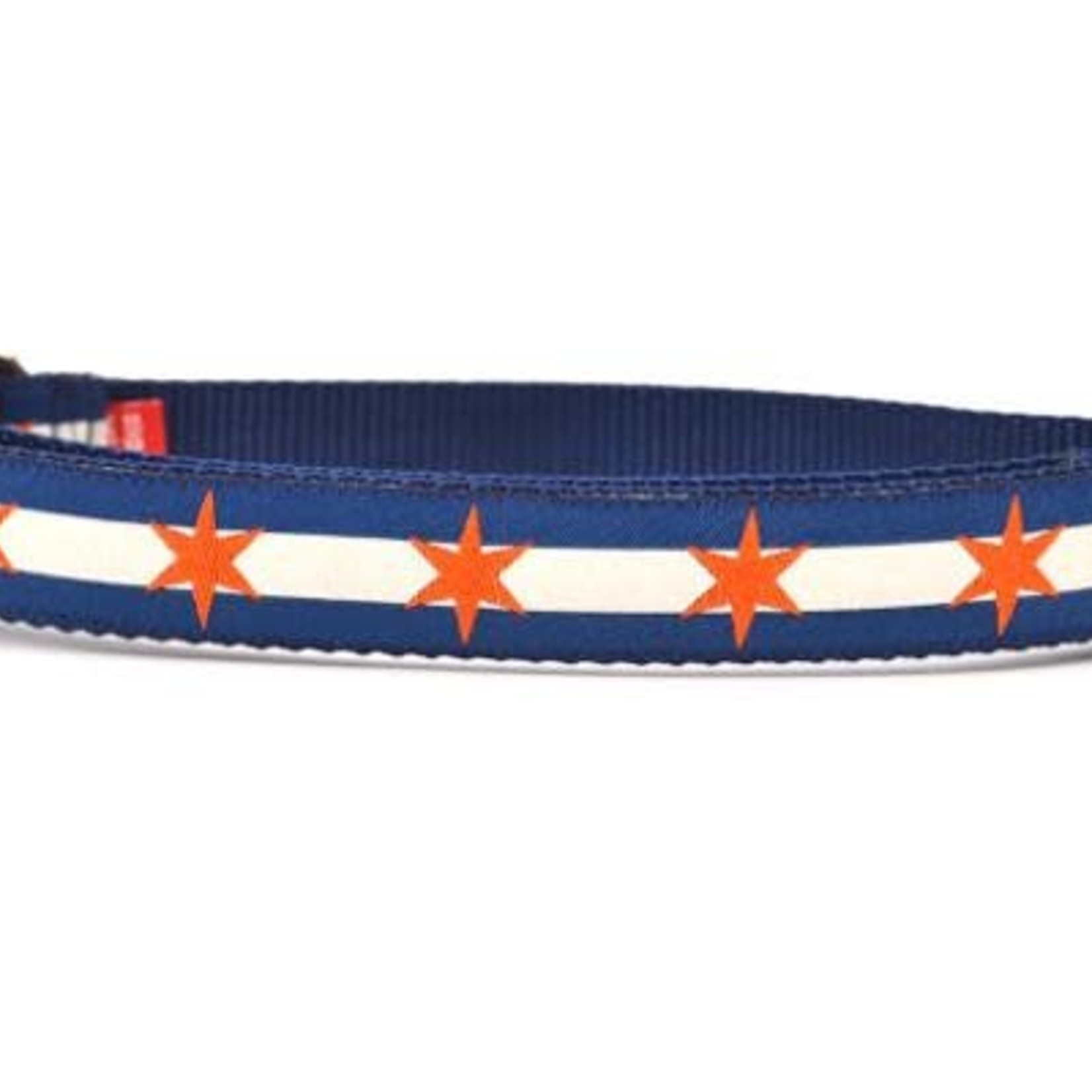 Six Point Pet Six Point Pet Chicago Flag Navy/Orange Collar Small