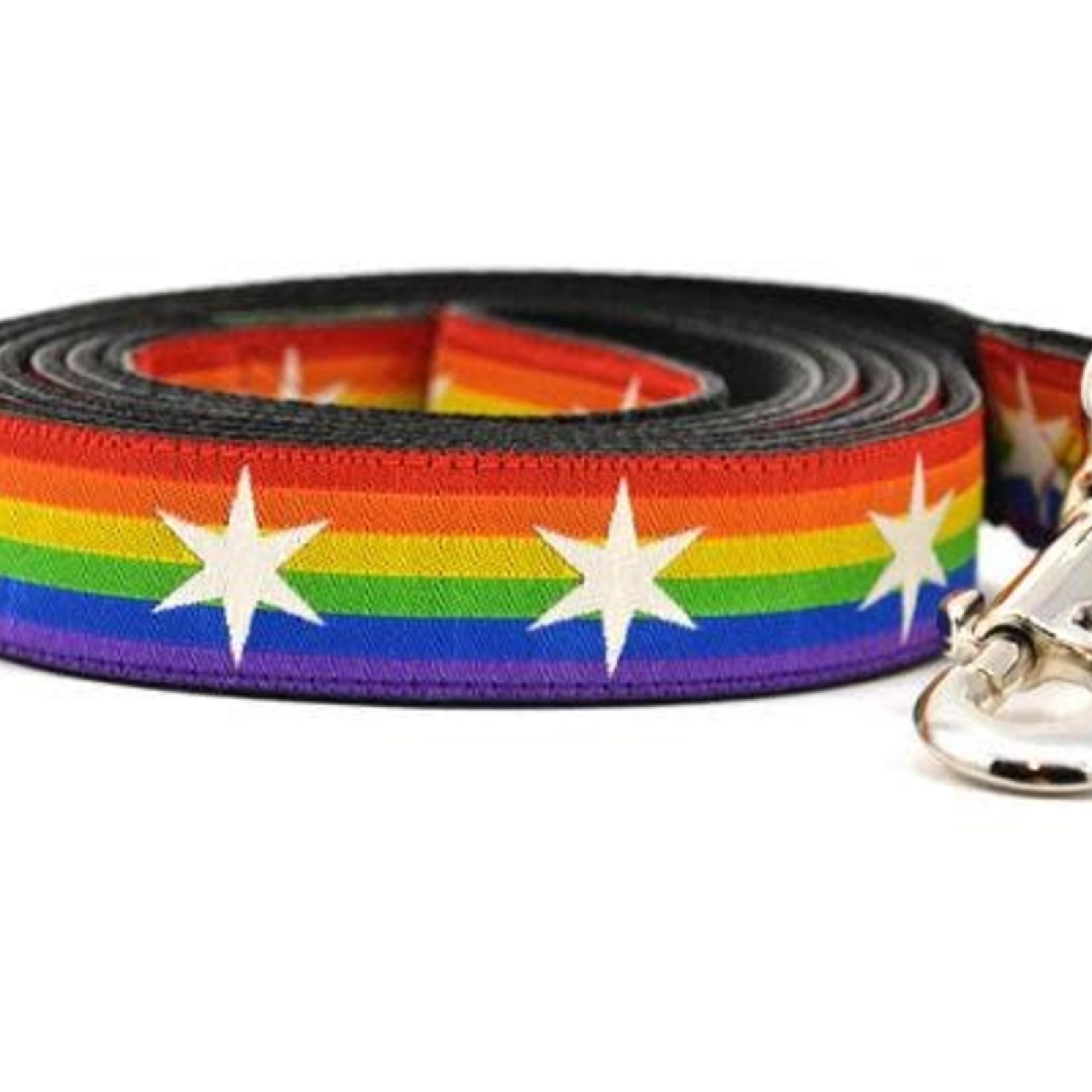 Six Point Pet Six Point Pet Chicago Flag Rainbow Lead Large