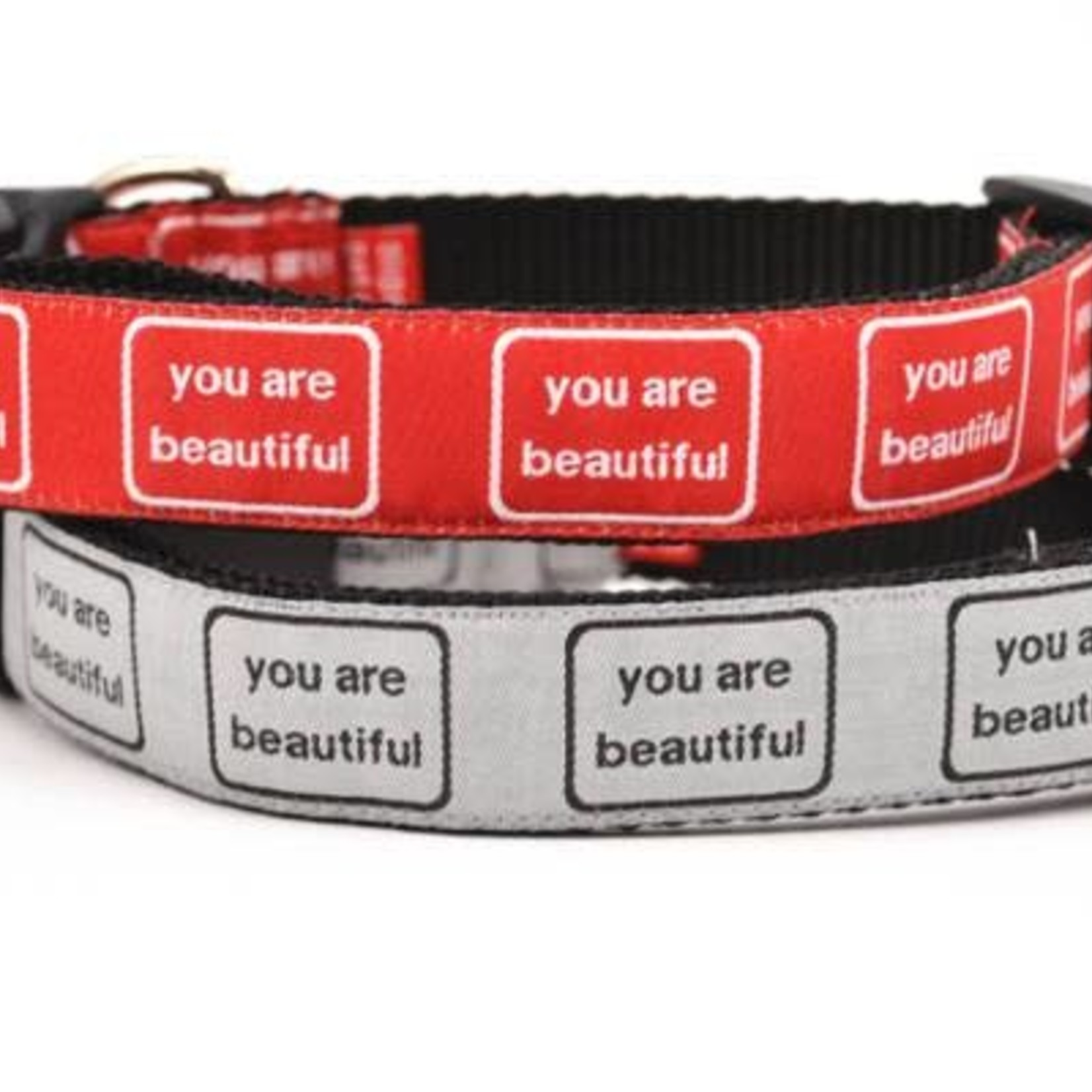 Six Point Pet Six Point Pet You Are Beautiful Collar Silver Large