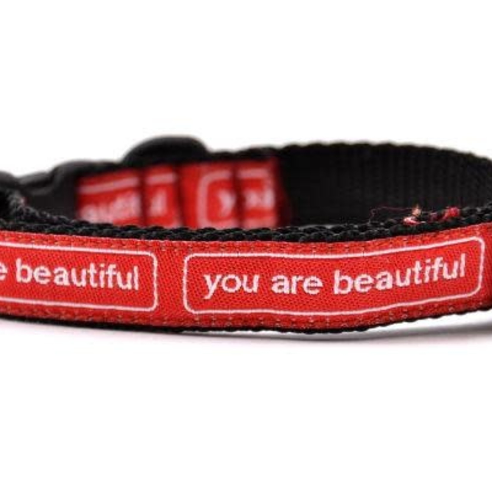 Six Point Pet Six Point Pet You Are Beautiful Collar Cat Red