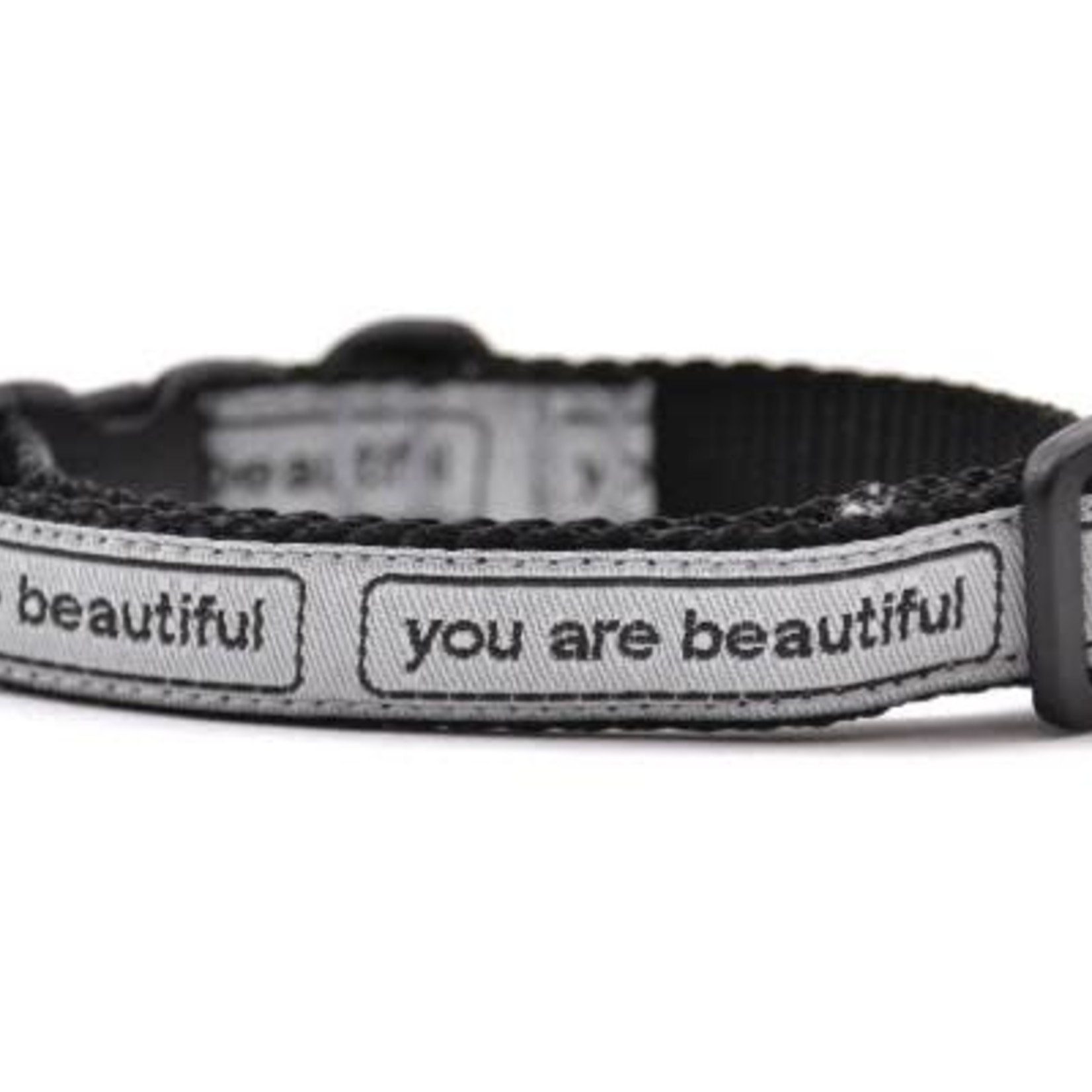 Six Point Pet Six Point Pet You Are Beautiful Collar Cat Silver