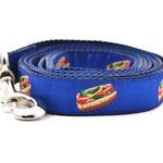 Six Point Pet Six Point Pet Chicago Hot Dog Lead Blue Large