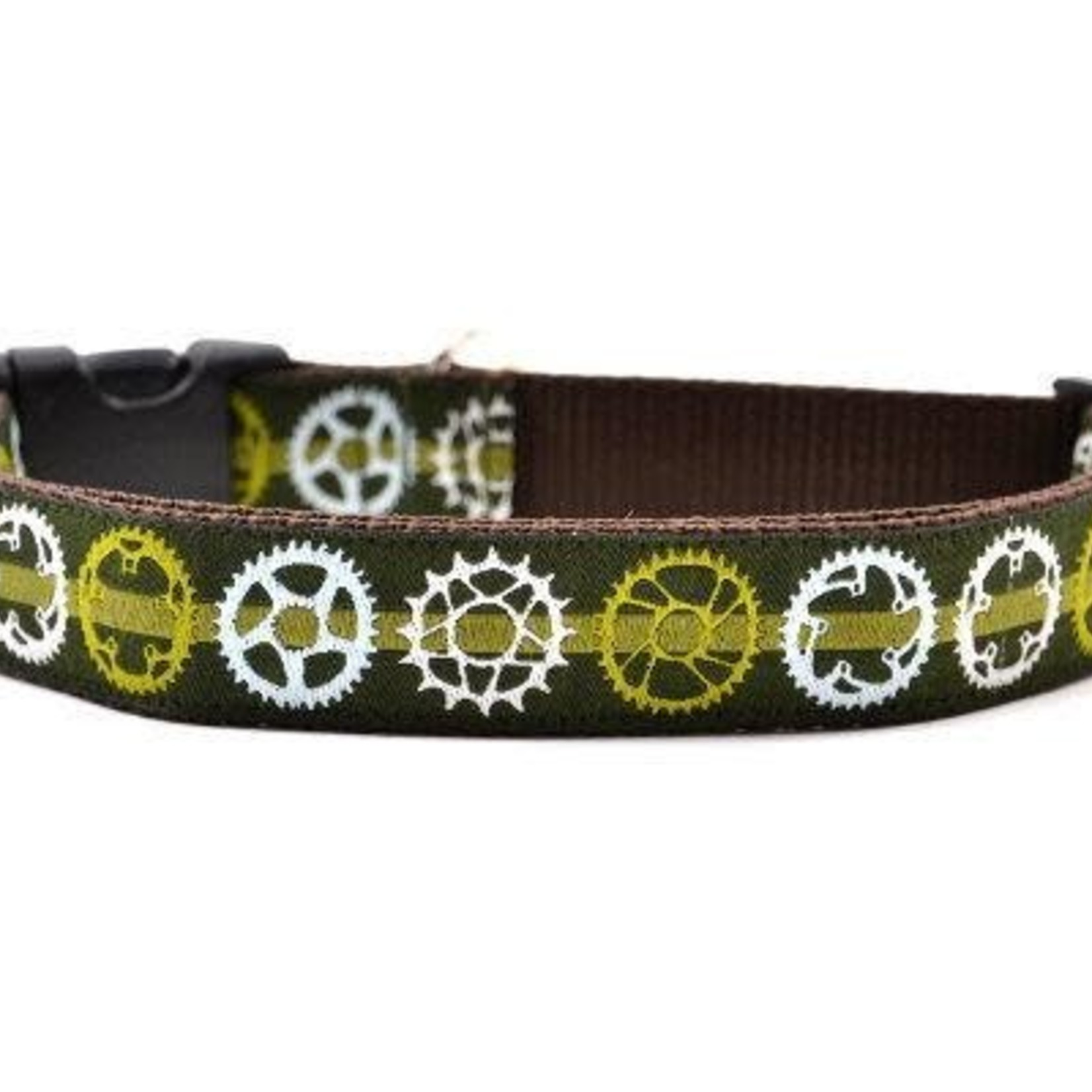 Six Point Pet Six Point Pet Bicycle Sprocket Collar Green Small