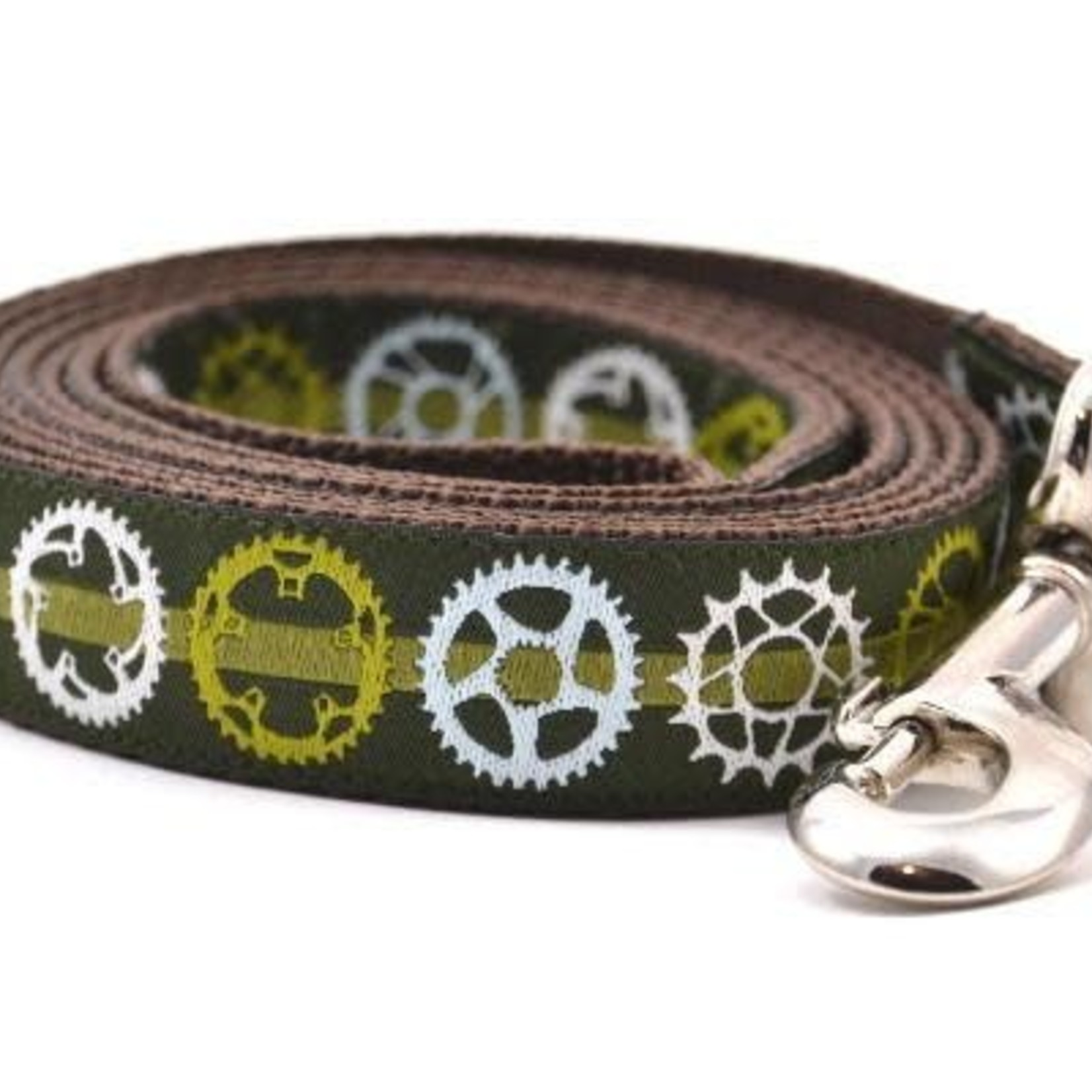 Six Point Pet Six Point Pet Bicycle Sprocket Lead Green Large