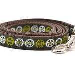 Six Point Pet Six Point Pet Bicycle Sprocket Lead Green Small