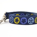 Six Point Pet Six Point Pet Bicycle Sprocket Lead Navy Large