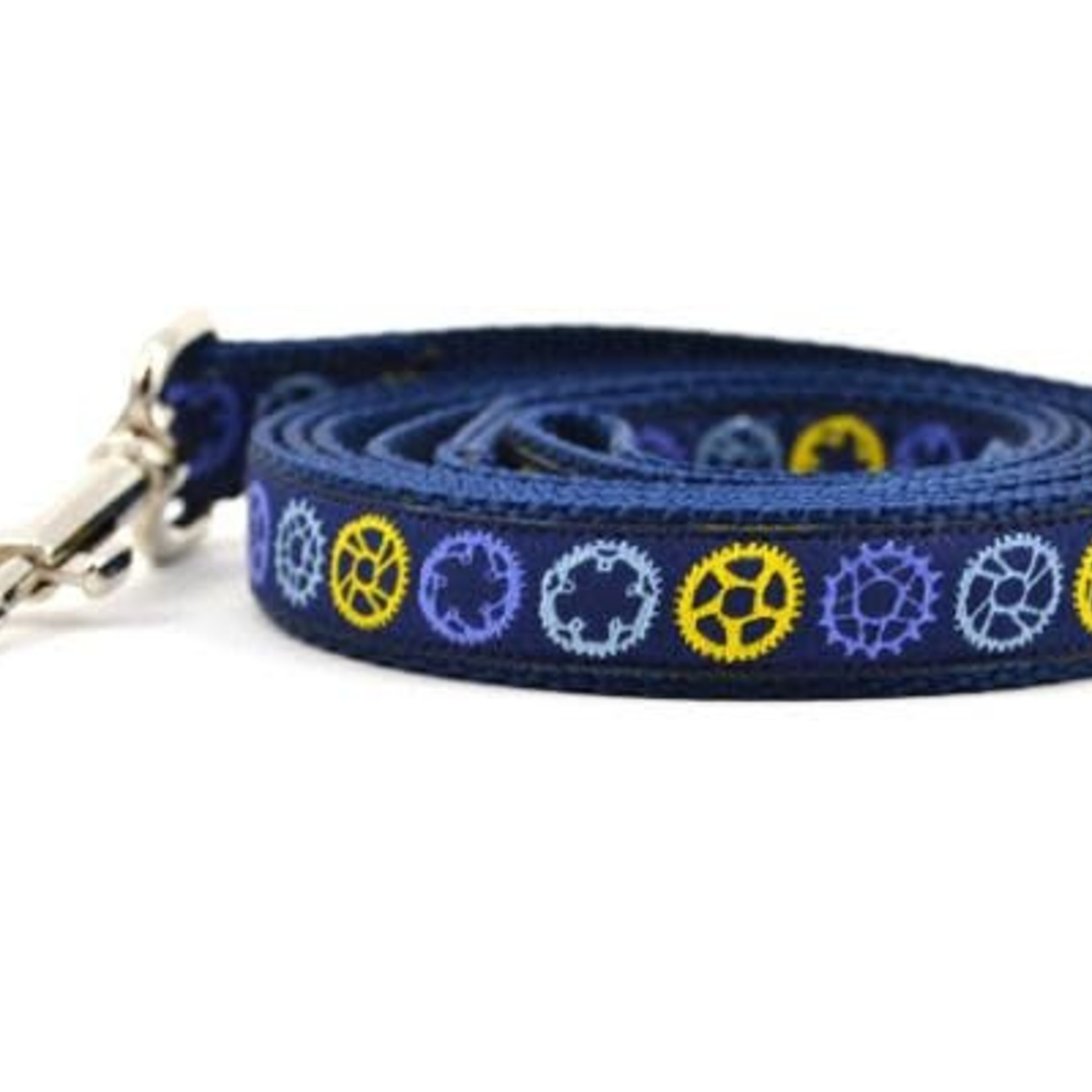 Six Point Pet Six Point Pet Bicycle Sprocket Lead Navy Small