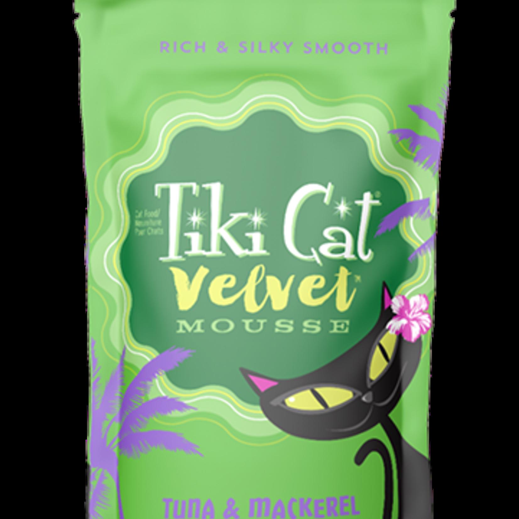 Tiki Pet Tiki Cat Velvet Mousse Tuna & Mackerel 2.8 OZ Pouch