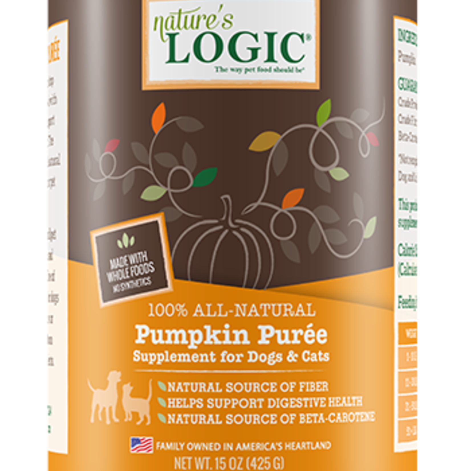 Natures Logic Natures Logic Pumpkin Puree 15 OZ