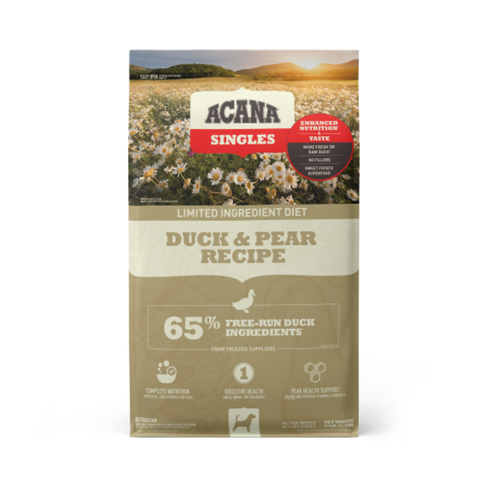 Champion Pet Foods Acana D Singles Duck & Pear 25#