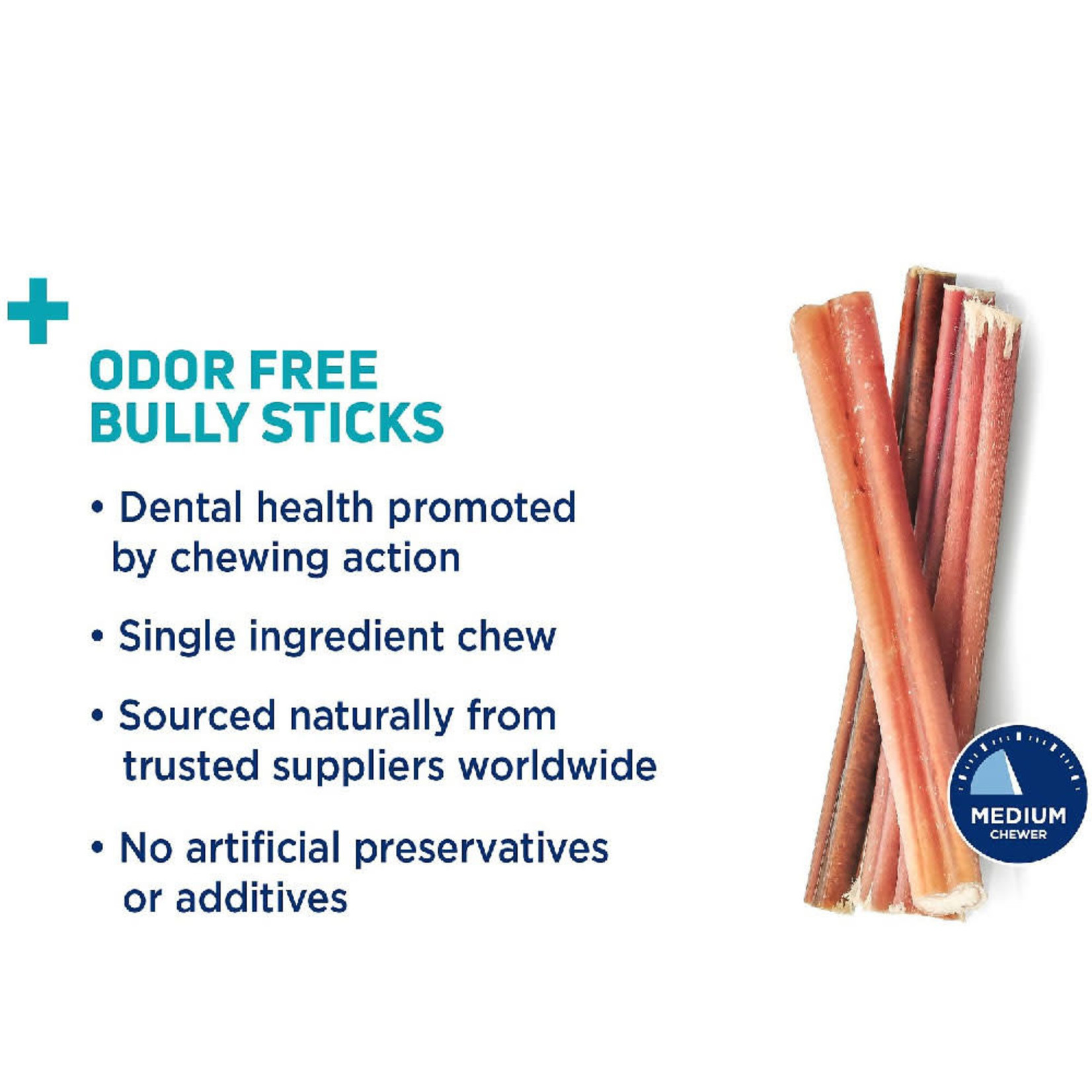 "Barkworthies Barkworthies Odor Free Bully Sticks 12"" 3 PACK"