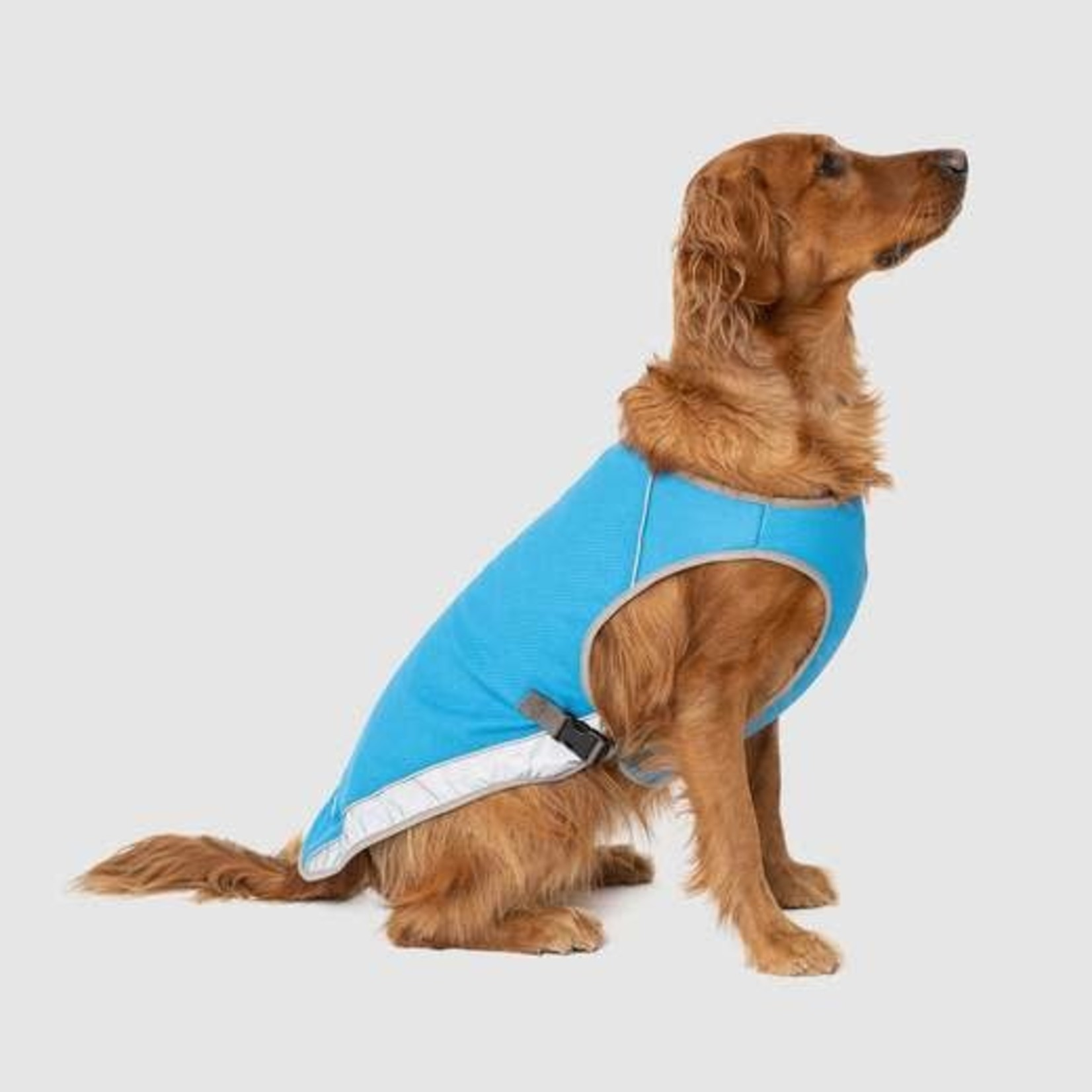Canada Pooch Canada Pooch Chill Seeker Cooling Vest Blue Size 22