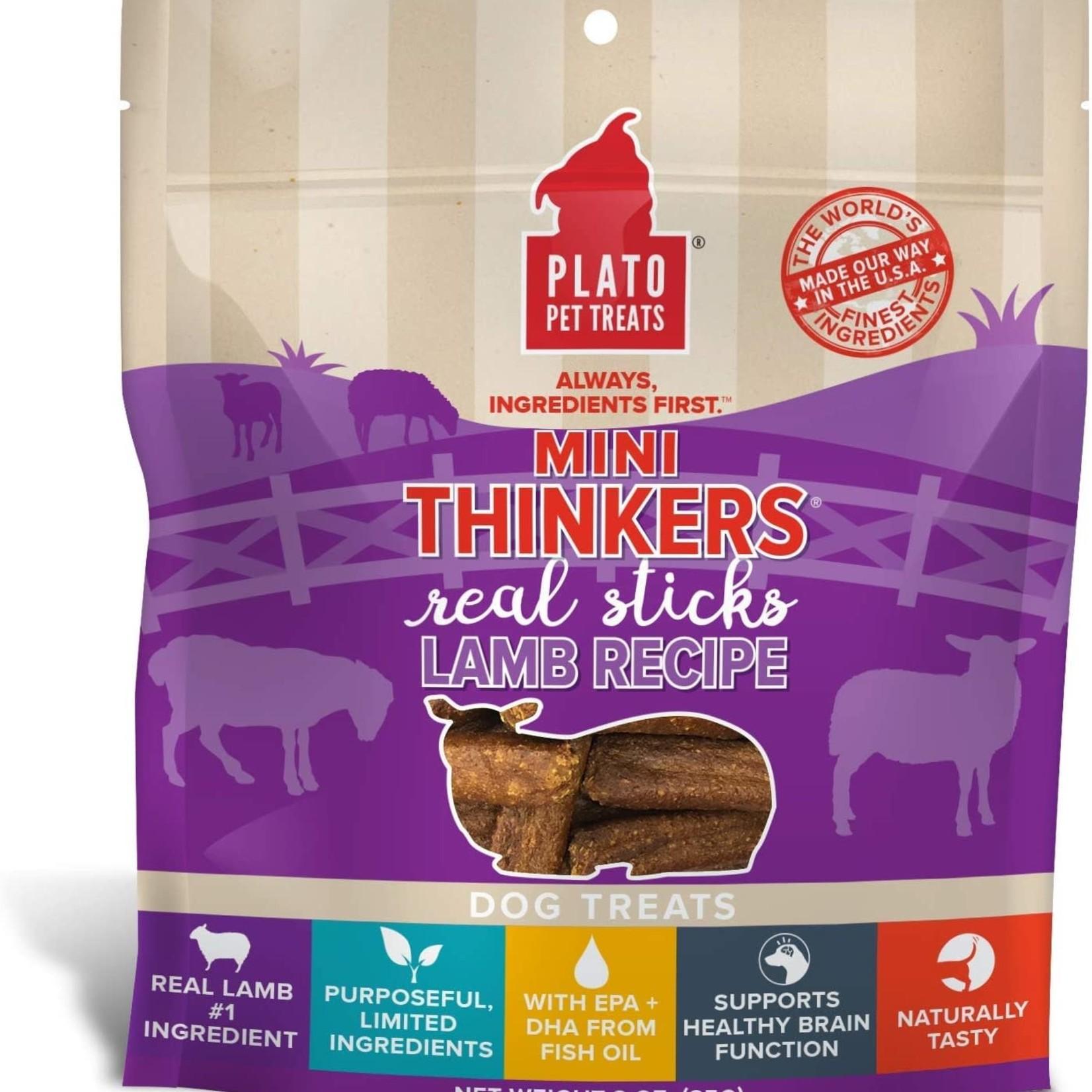 Plato Pet Treats Plato Mini Thinkers Lamb Sticks 3 OZ
