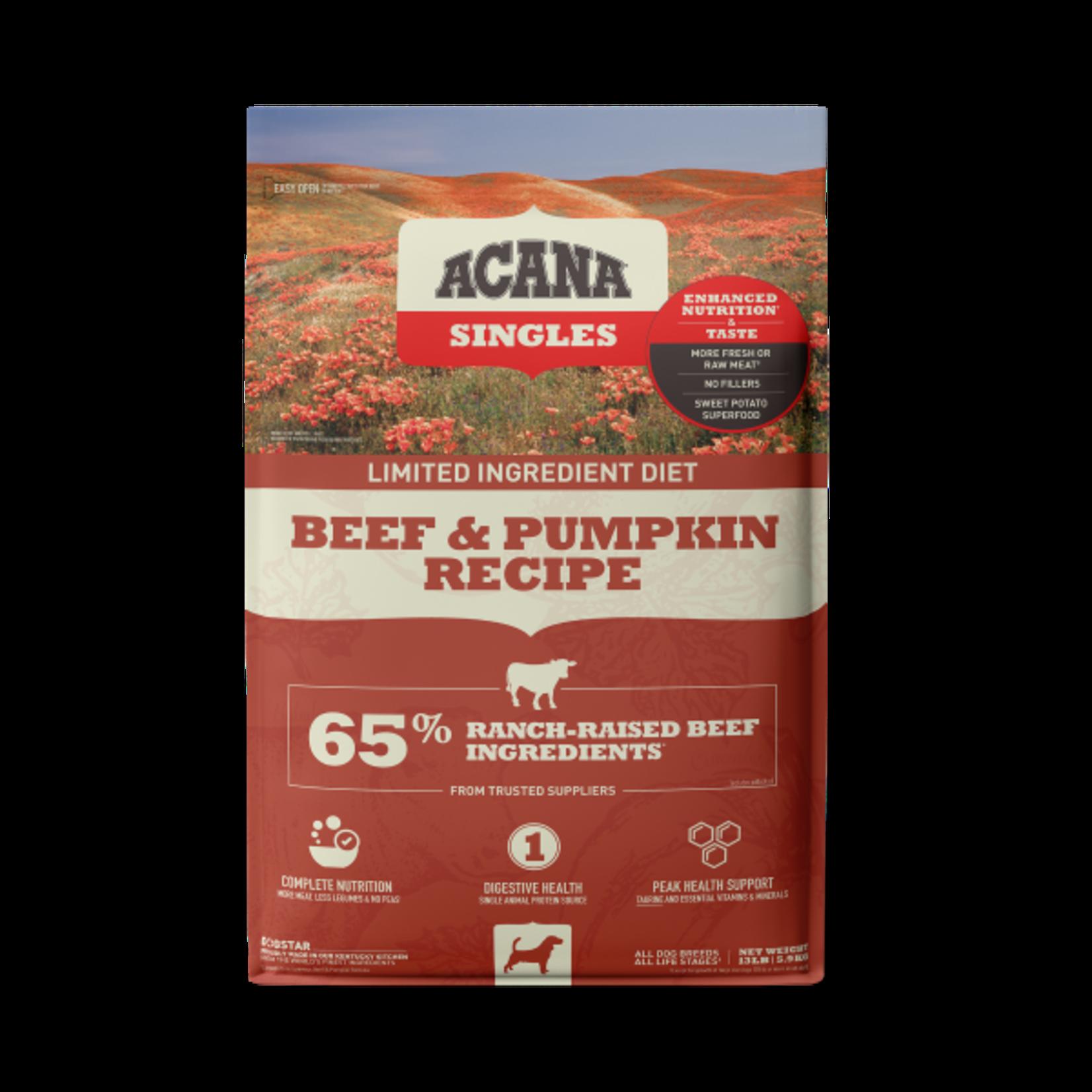 Champion Pet Foods Acana Dog Singles Beef & Pumpkin 13#