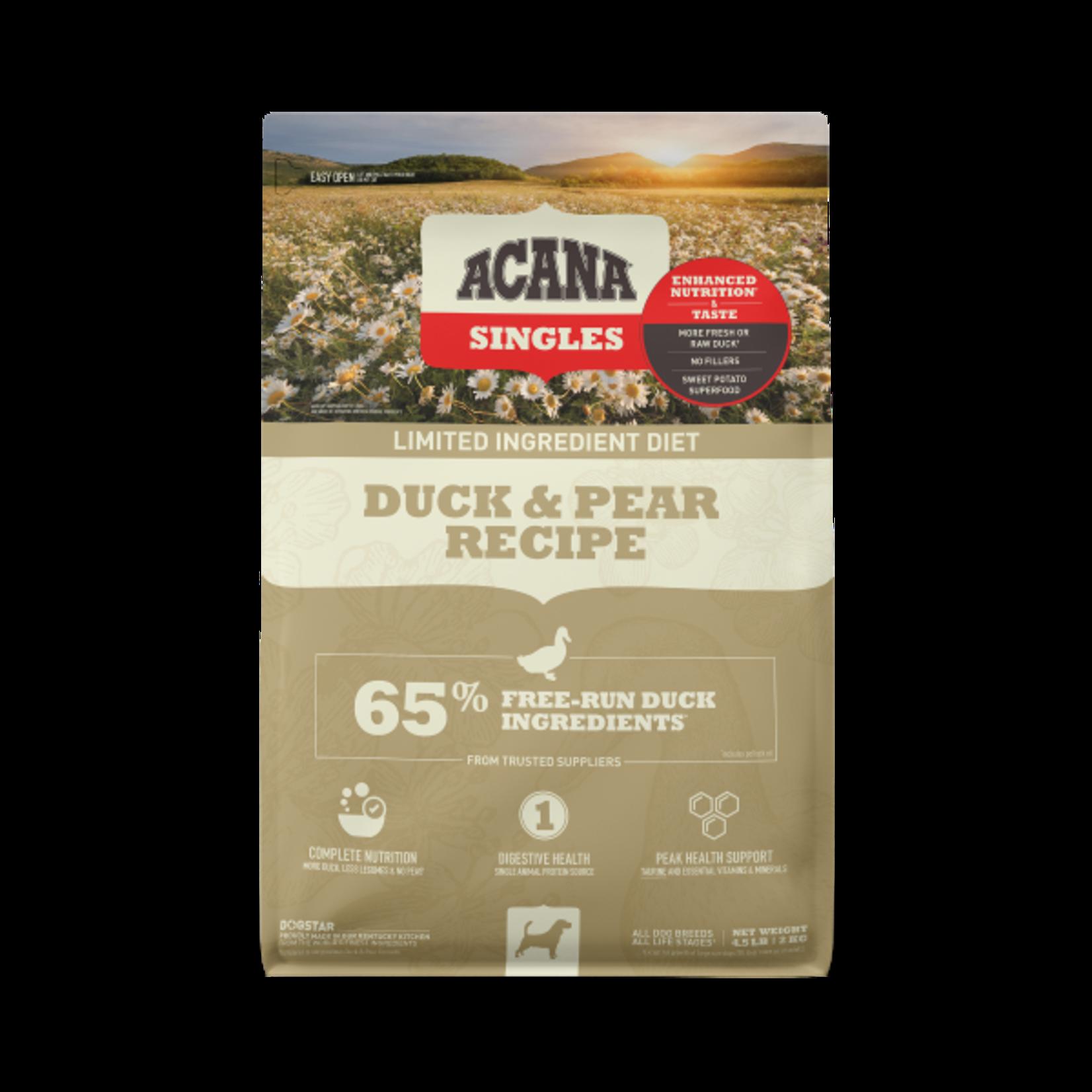 Champion Pet Foods Acana Dog Singles Duck & Pear 4.5#