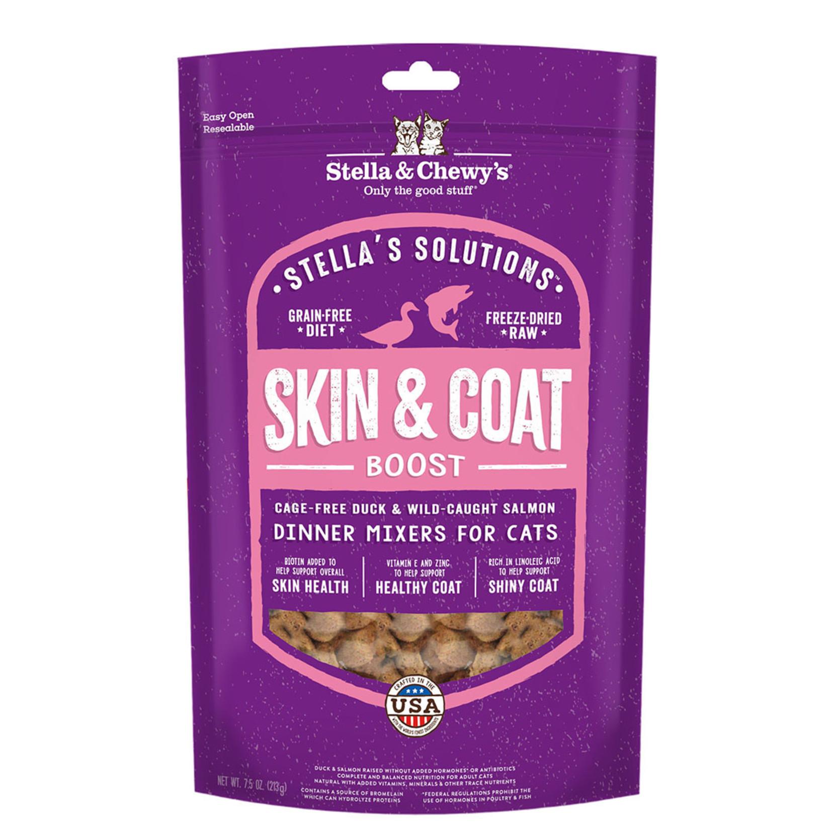 Stella & Chewys Stella Freeze-Dried Cat Skin & Coat Boost Duck & Salmon 7.5 OZ