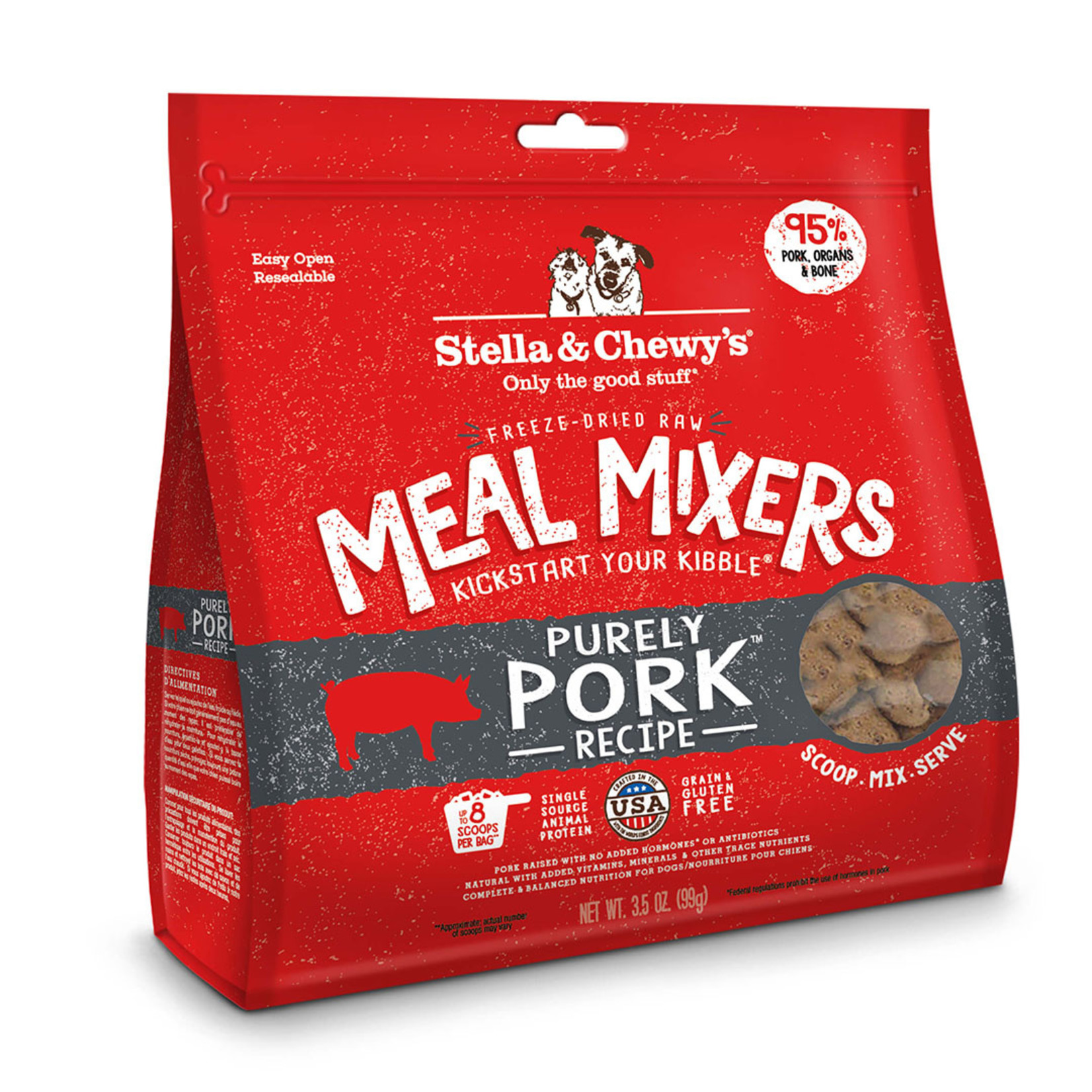 Stella & Chewys Stella Freeze-Dried Dog Meal Mixers Pork 18 OZ