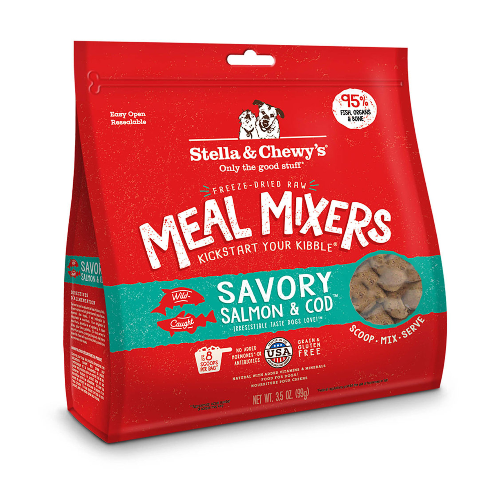 Stella & Chewys Stella Freeze-Dried Dog Meal Mixers Salmon & Cod 18 OZ