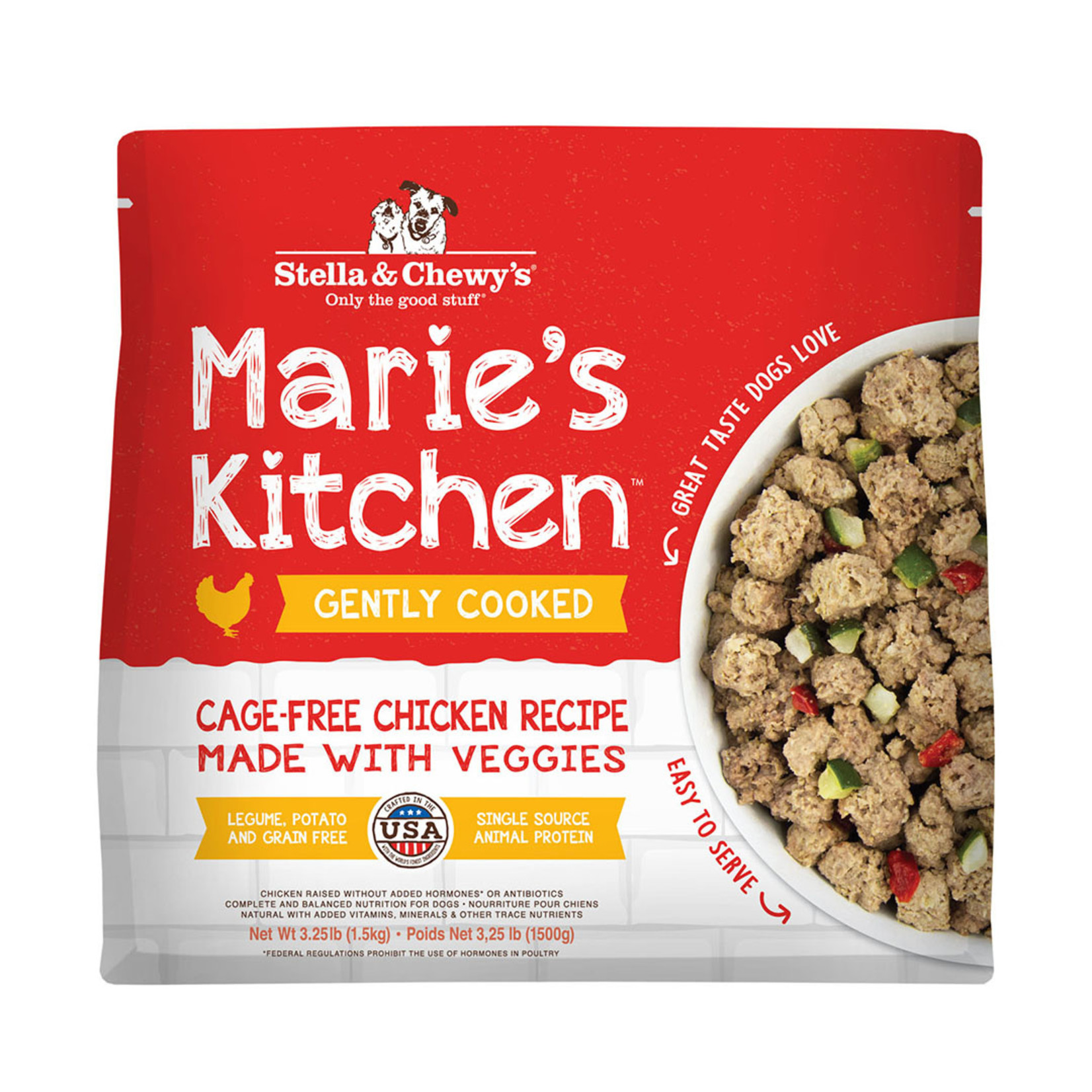 Stella & Chewys Stella Frozen Gently Cooked Marie's Kitchen Chicken 3.25#