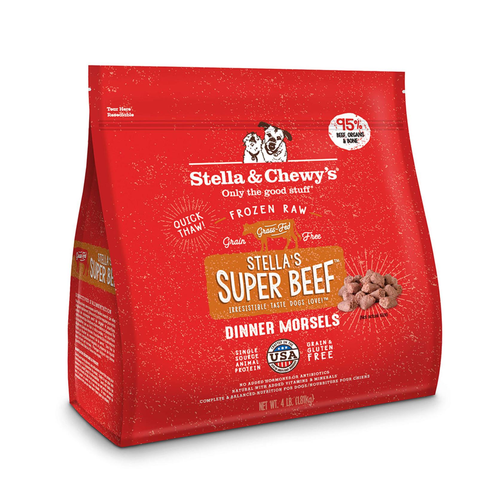 Stella & Chewys Stella Frozen Dog Morsels Beef 4#