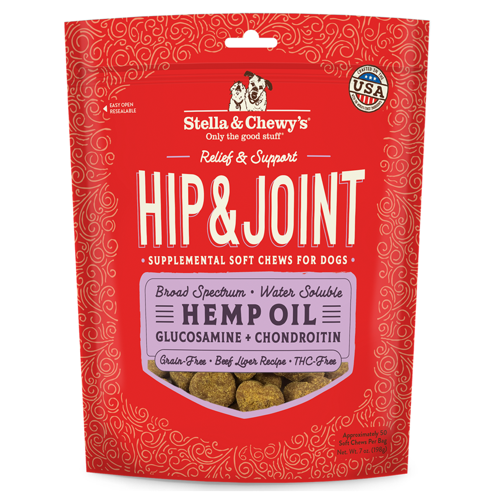 Stella & Chewys Stella & Chewy's Hemp Oil Hip & Joint Chews (3MG) 7 OZ