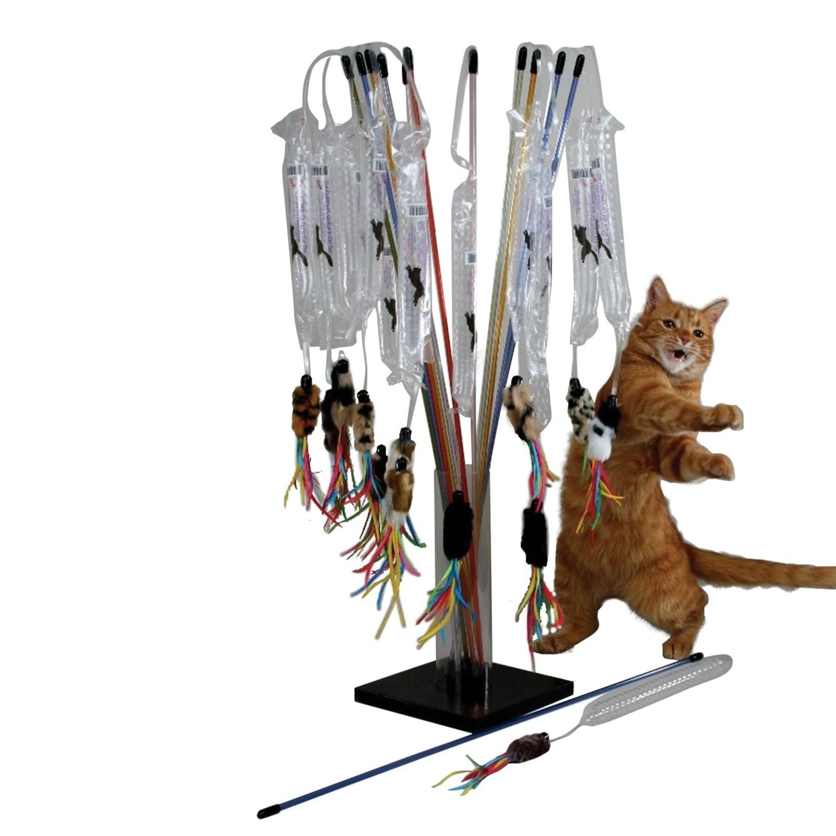 Vee Enterprises PURRfect Go-Fur-It Cat Wand Toy