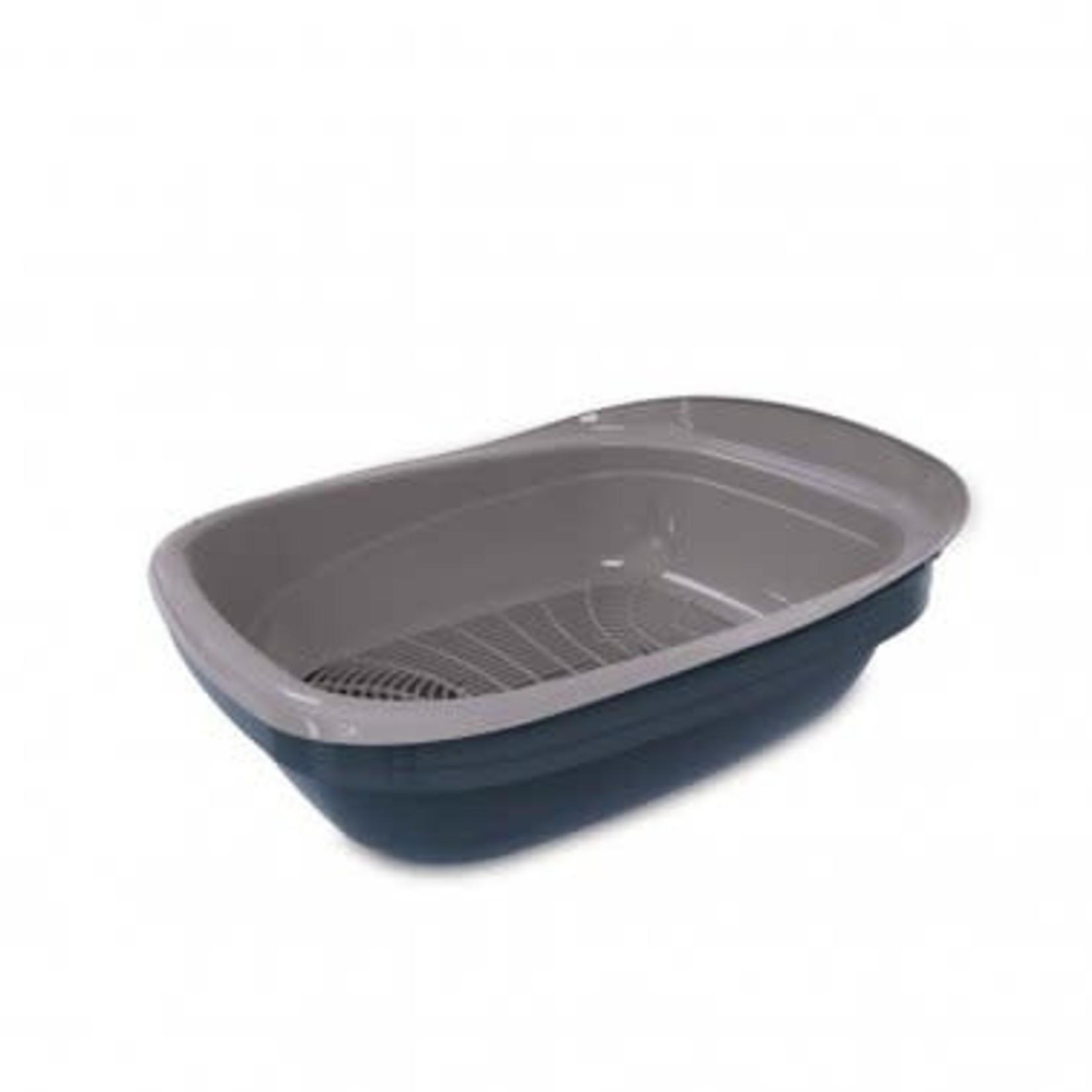 Pet Mate Petmate Simple Sifting Litter Pan Blue/Gray