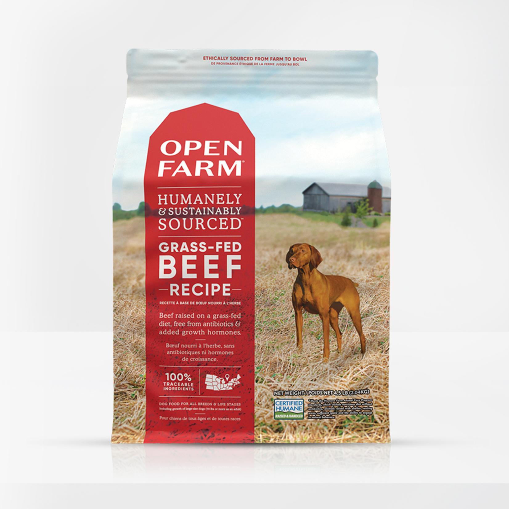 Open Farm Open Farm Dog Grain Free  Grass Fed Beef 24#