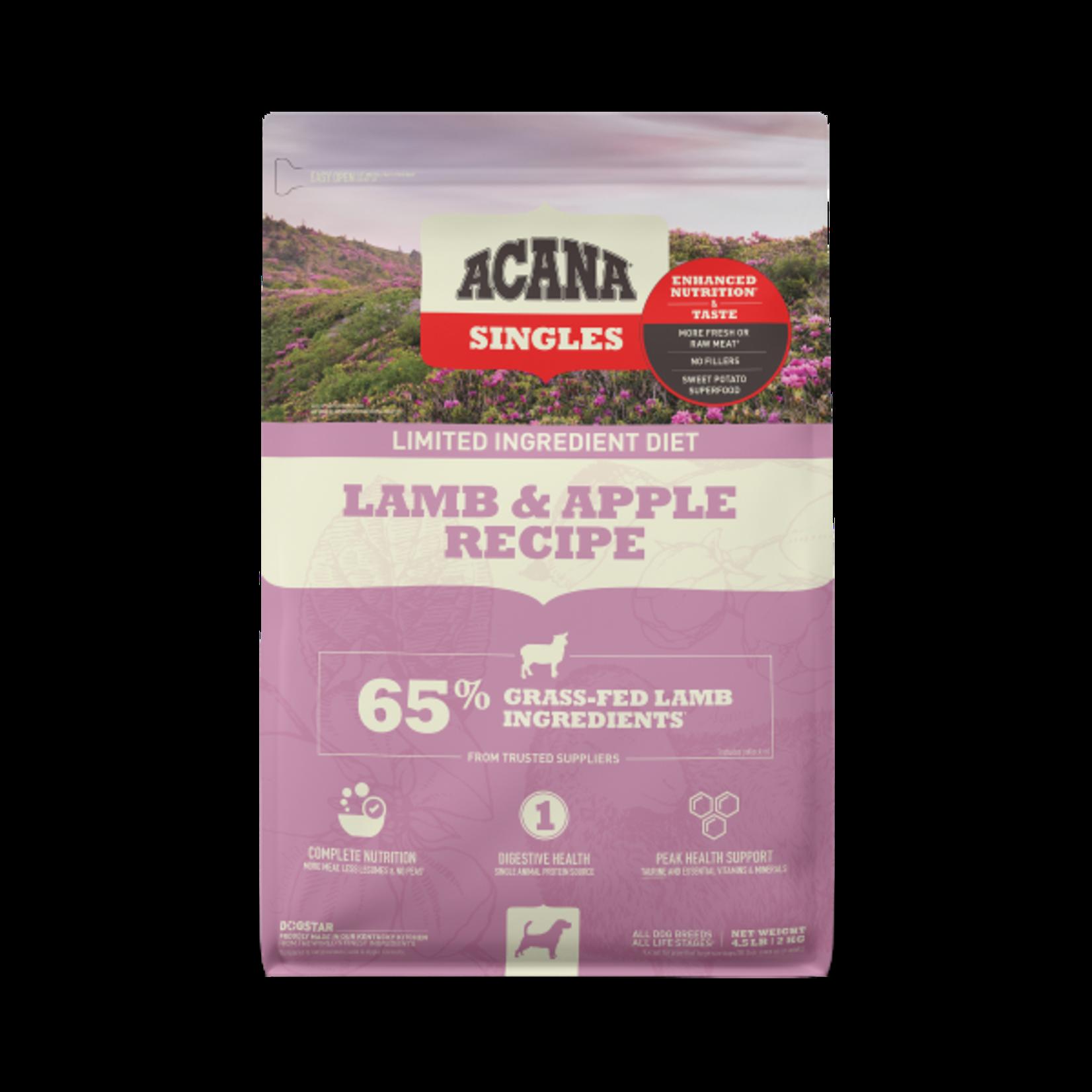 Champion Pet Foods Acana Dog Singles Lamb & Apple 4.5#