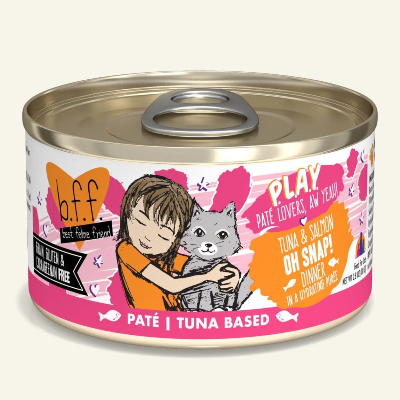 Weruva BFF PLAY Cat Tuna & Salmon Oh Snap 2.8 OZ