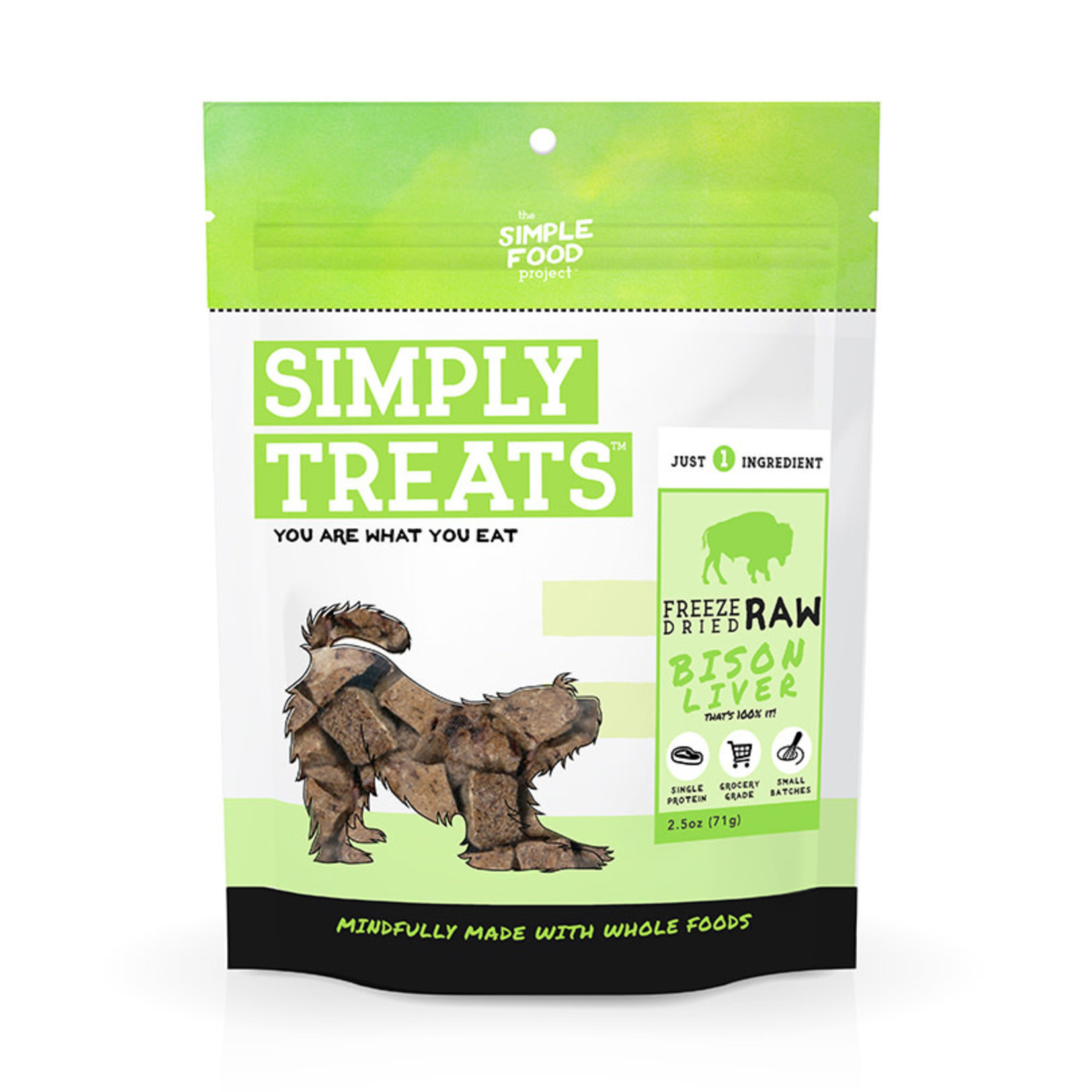 Simple Food Project Simply Treats Freeze-dried  Bison 2.5 OZ