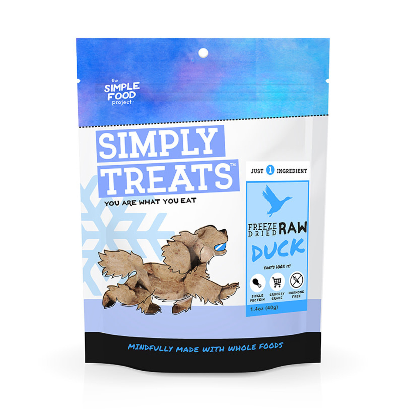 Simple Food Project Simply Treats Freeze-dried  Duck 1.4 OZ