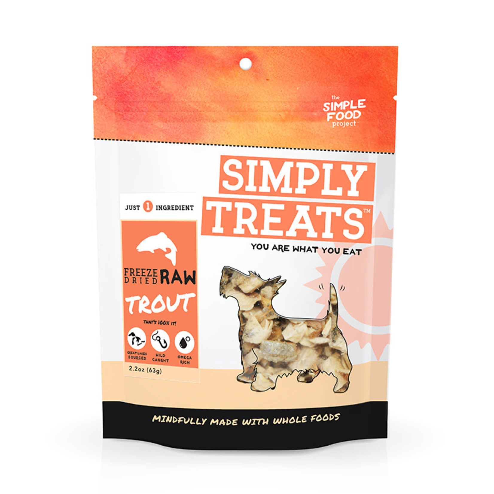 Simple Food Project Simply Treats Freeze-dried  Trout 2.2 OZ