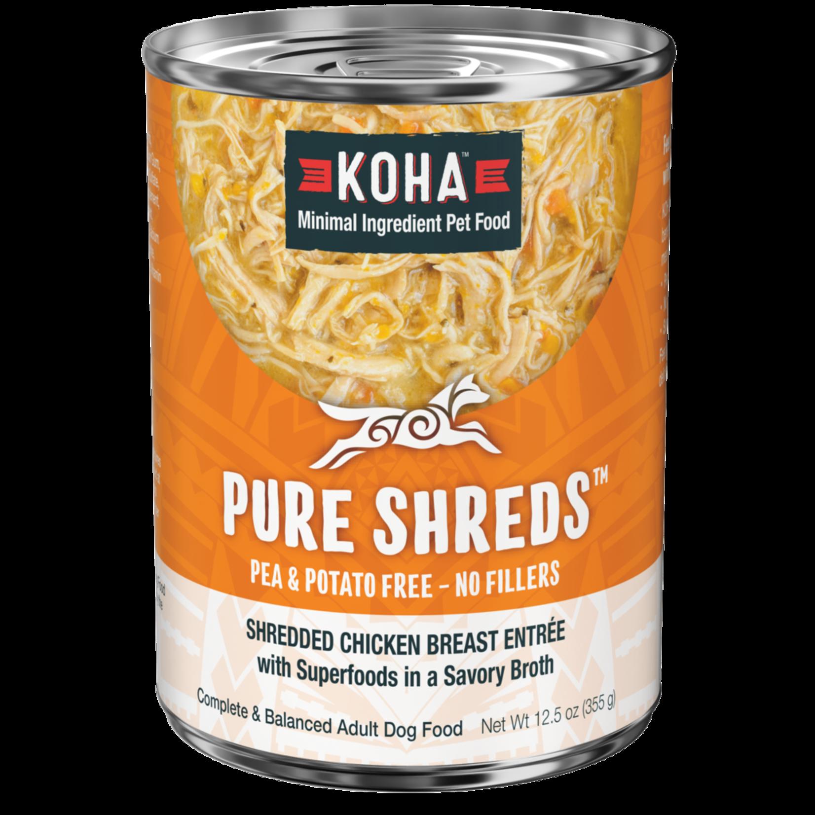 Koha Koha Dog Pure Shreds Chicken & Pumpkin 12 OZ